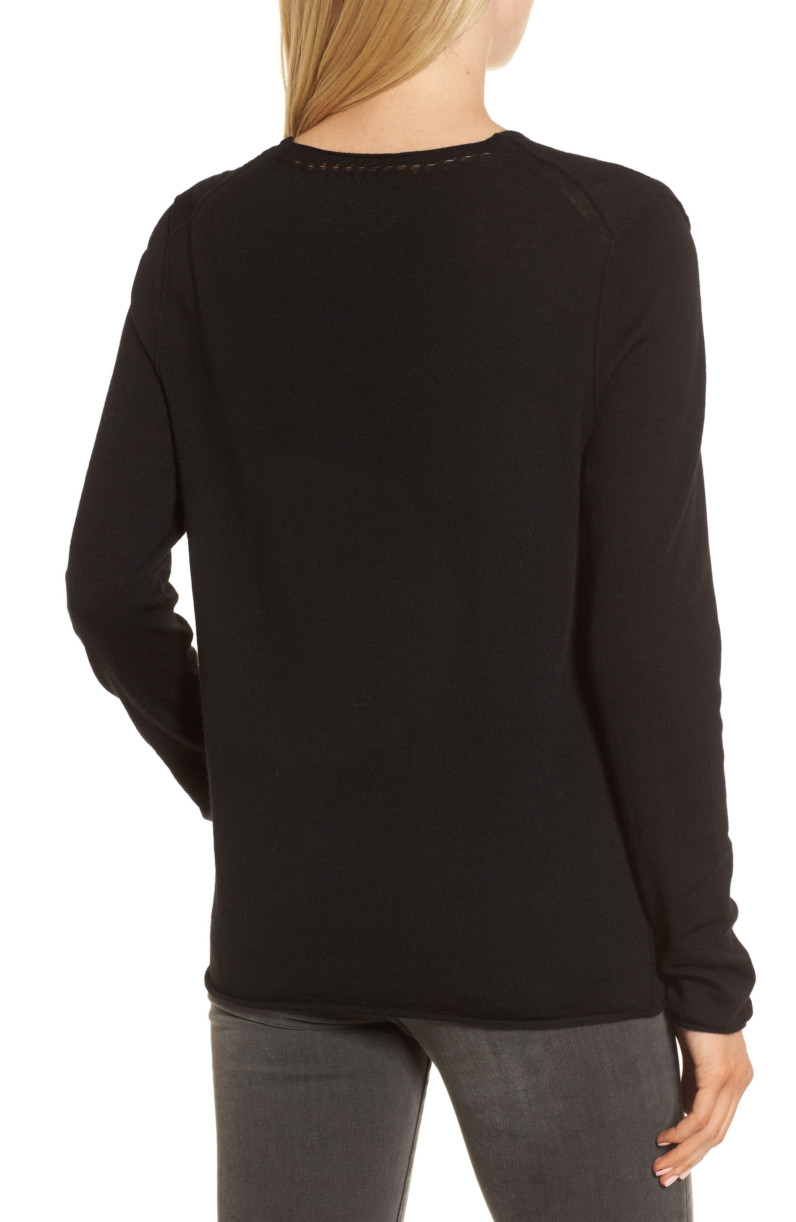 Gwendal Bis Merino Wool Sweater,                             Alternate thumbnail 2, color,                             001