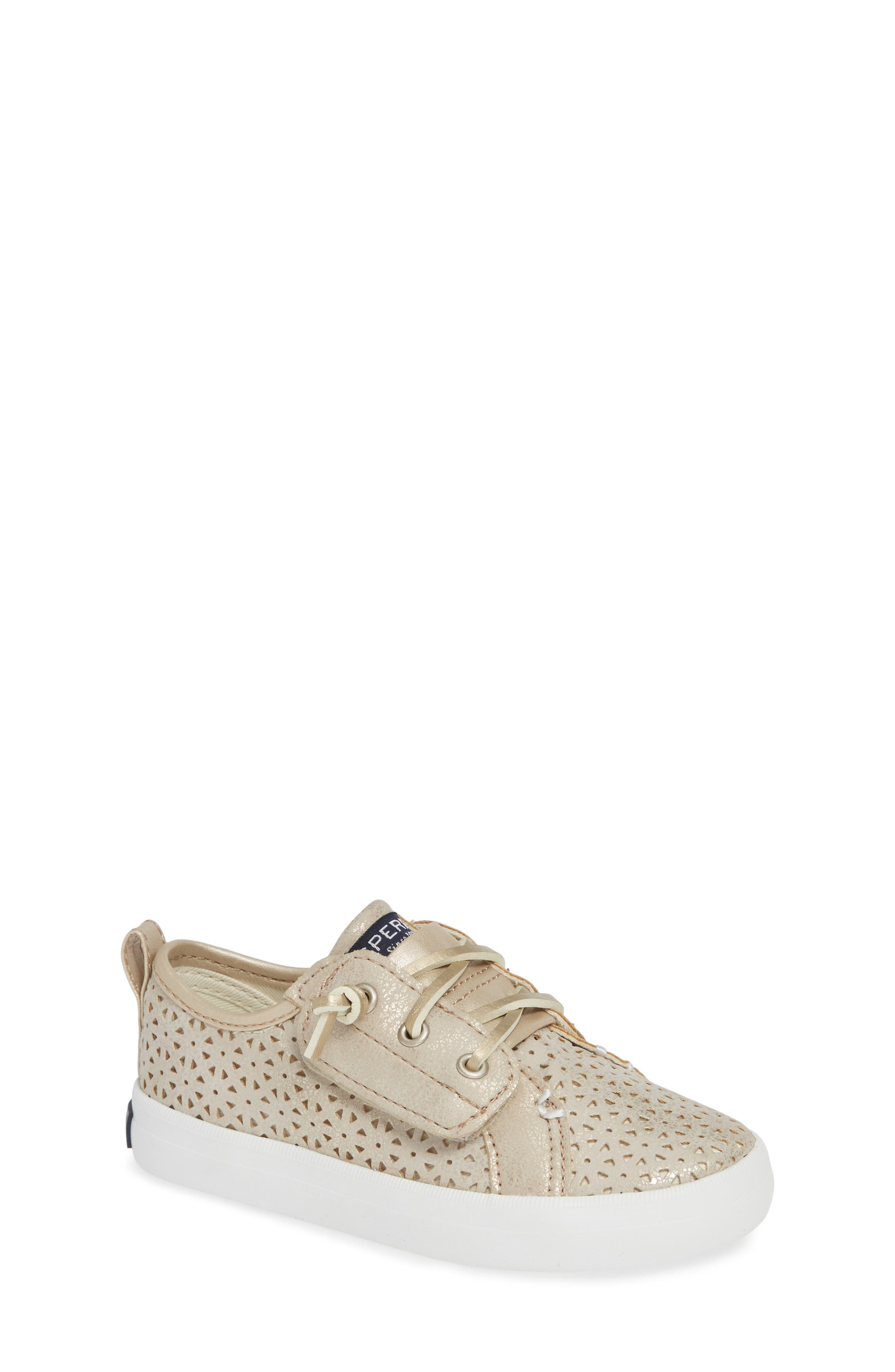 Sperry Crest Vibe Sneaker,                         Main,                         color, CHAMPAGNE SYNTHETIC