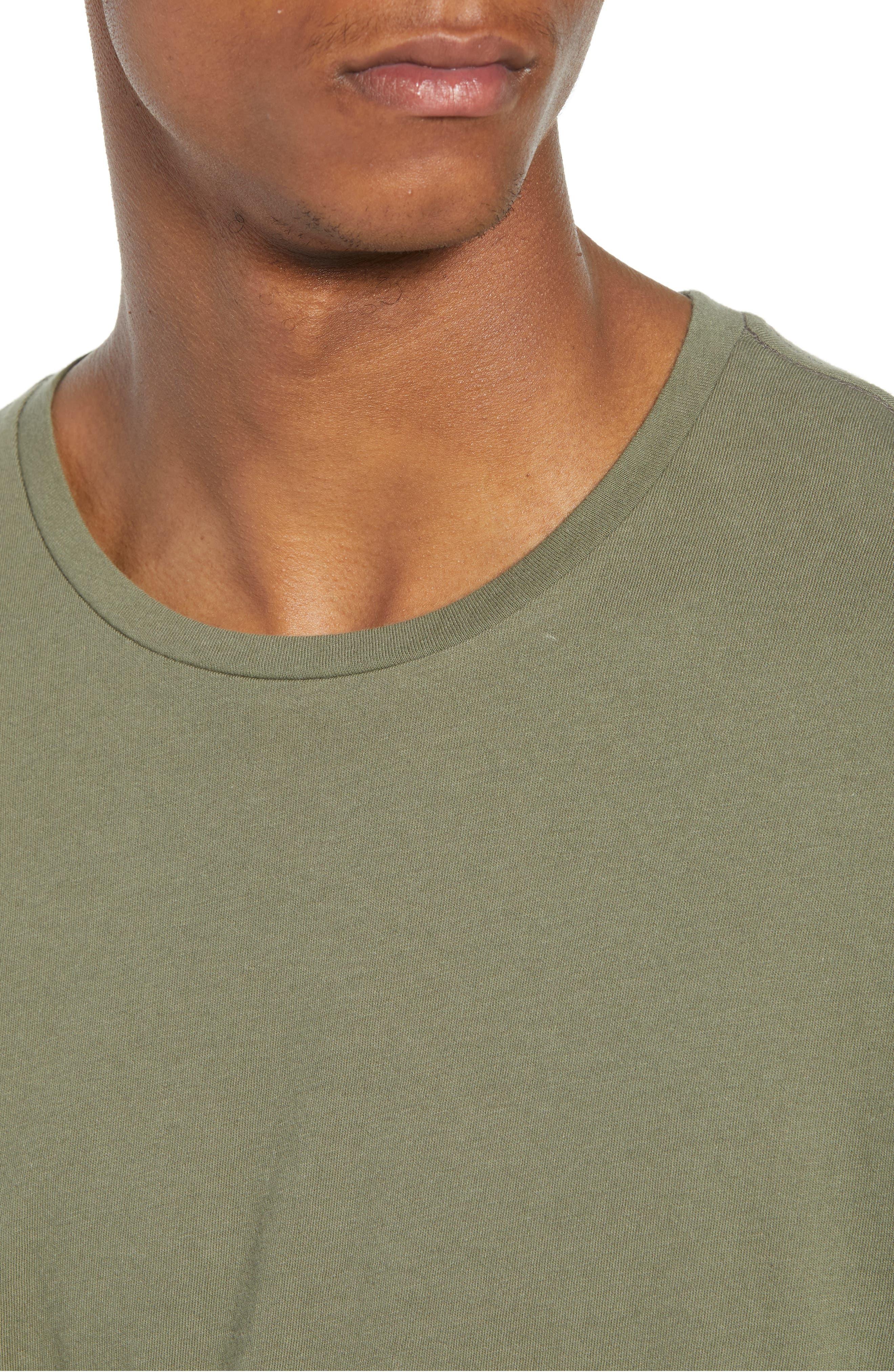 Longline T-Shirt,                             Alternate thumbnail 4, color,                             OLIVE GROVE