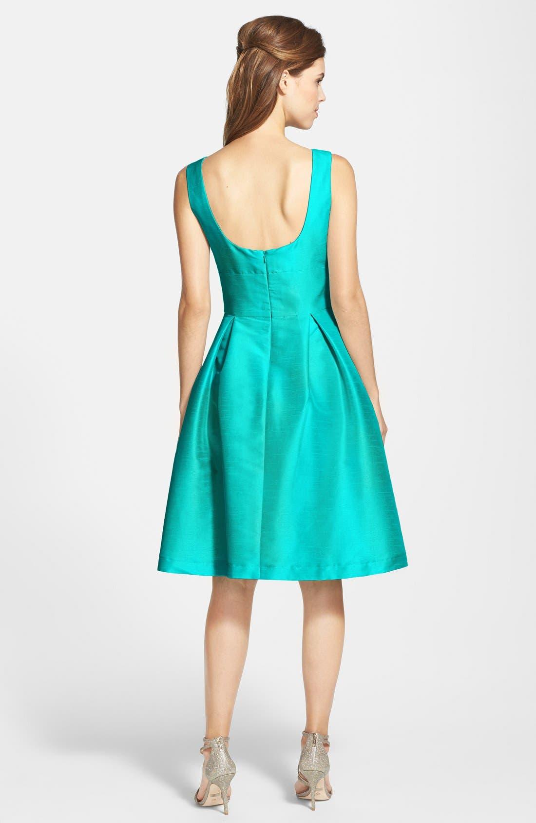 Dupioni Fit & Flare Dress,                             Alternate thumbnail 20, color,