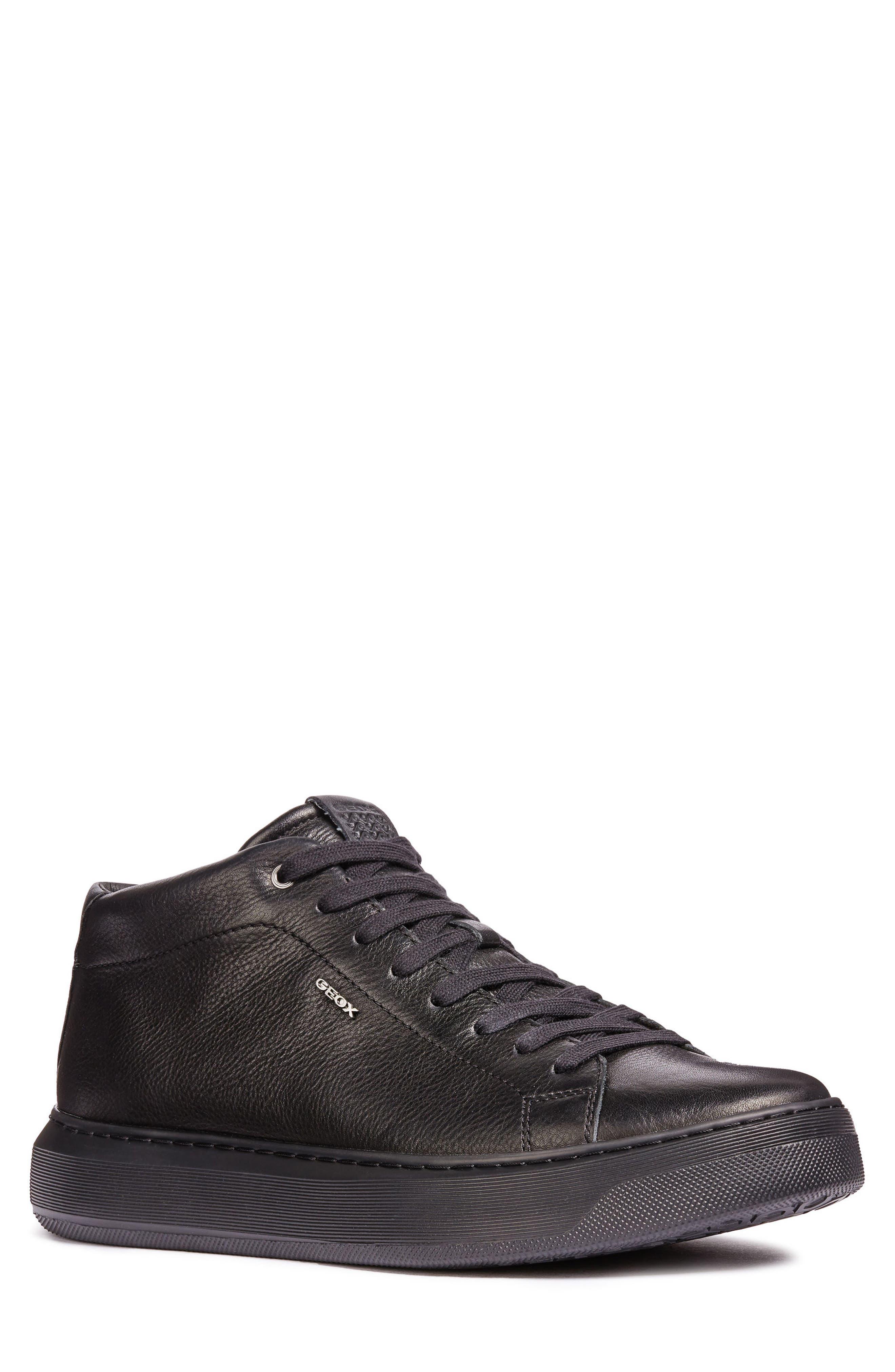 Geox Deiven 1 High Top Sneaker, Black
