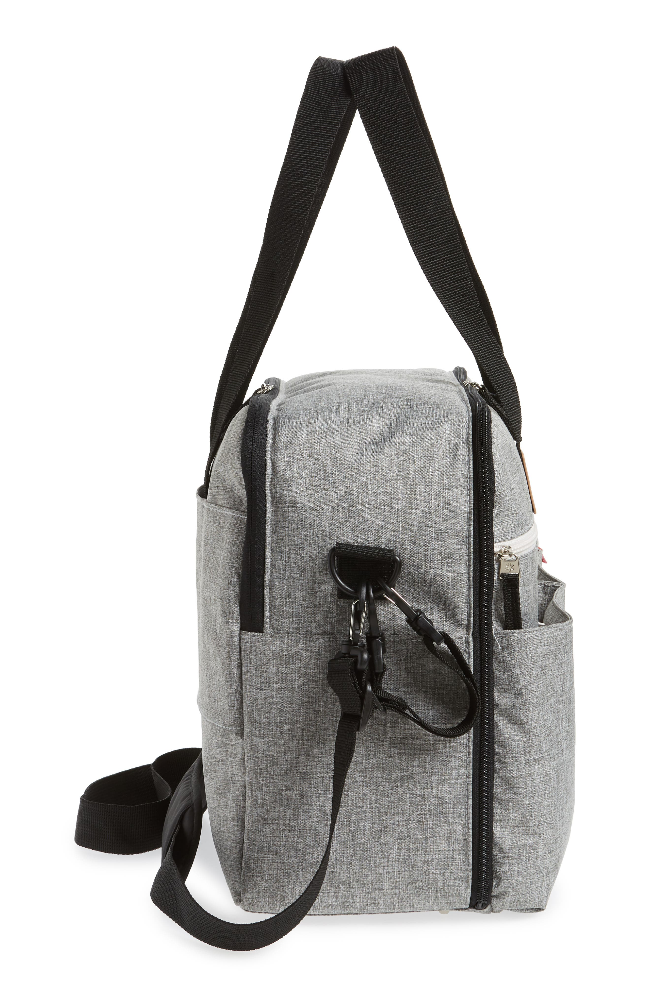 Duo Weekend Diaper Bag,                             Alternate thumbnail 5, color,                             GREY