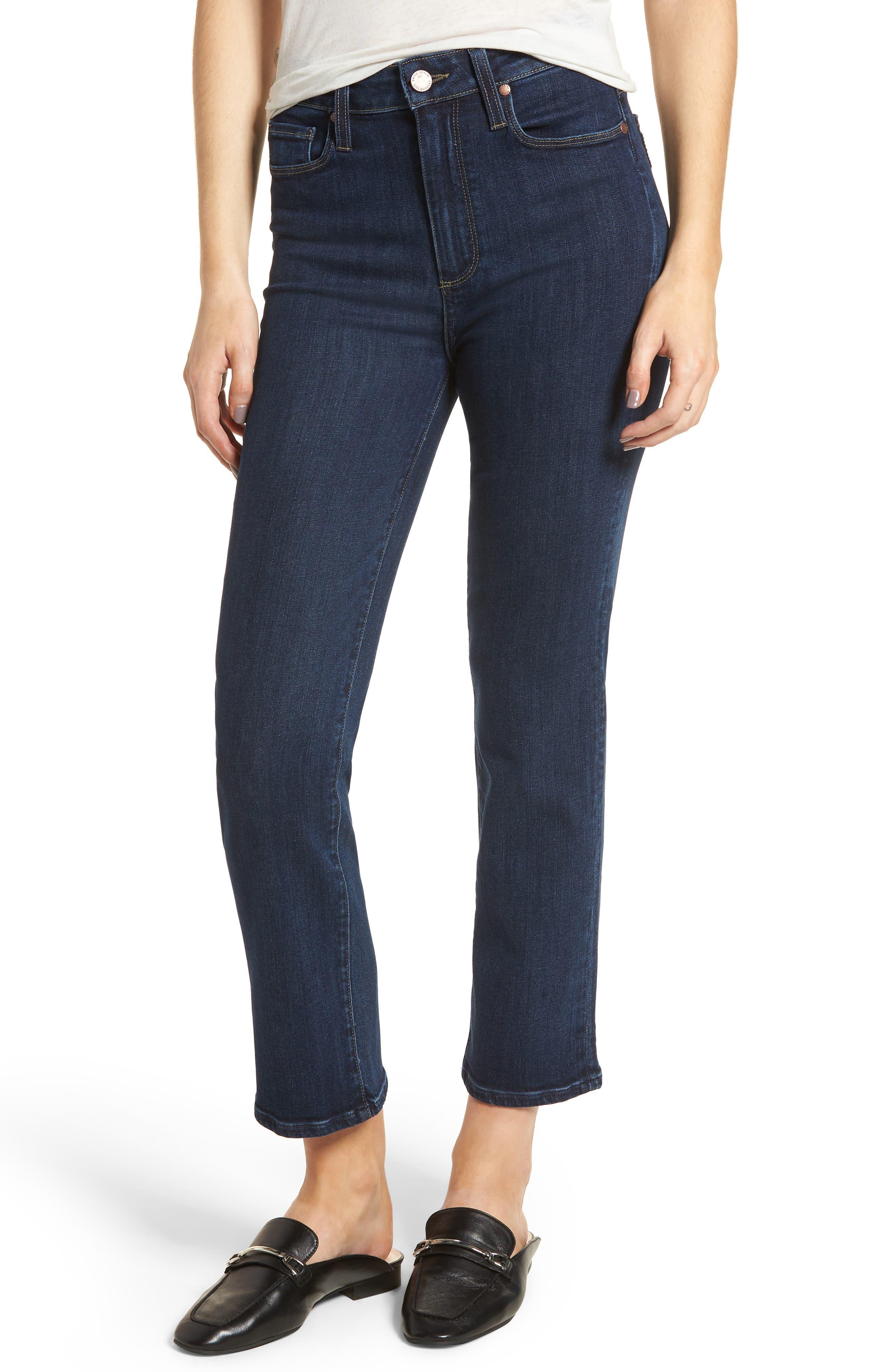 Margot High Waist Ankle Straight Leg Jeans,                         Main,                         color, 400