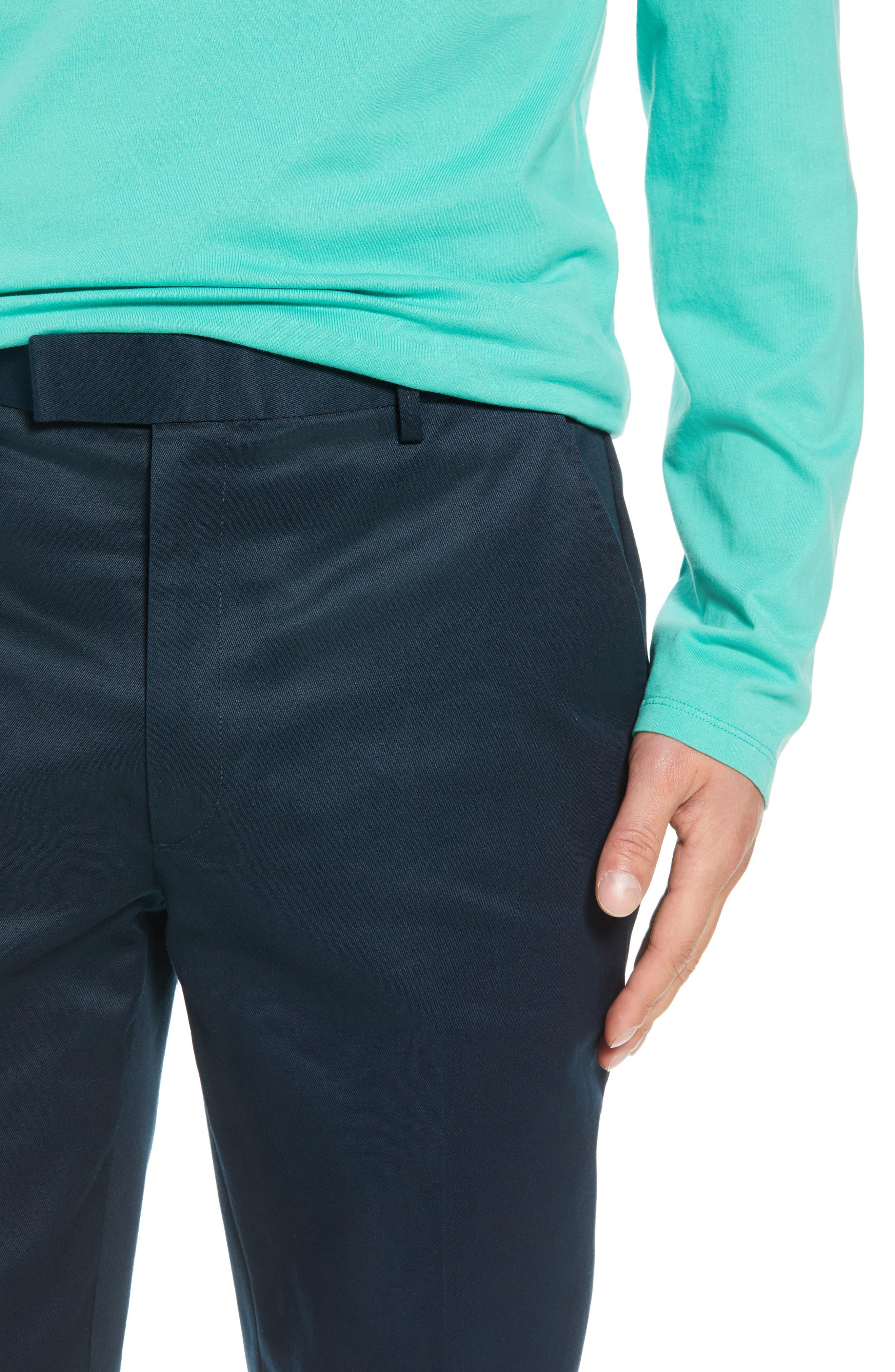 Leon Regular Fit Pants,                             Alternate thumbnail 4, color,                             MIDNIGHT