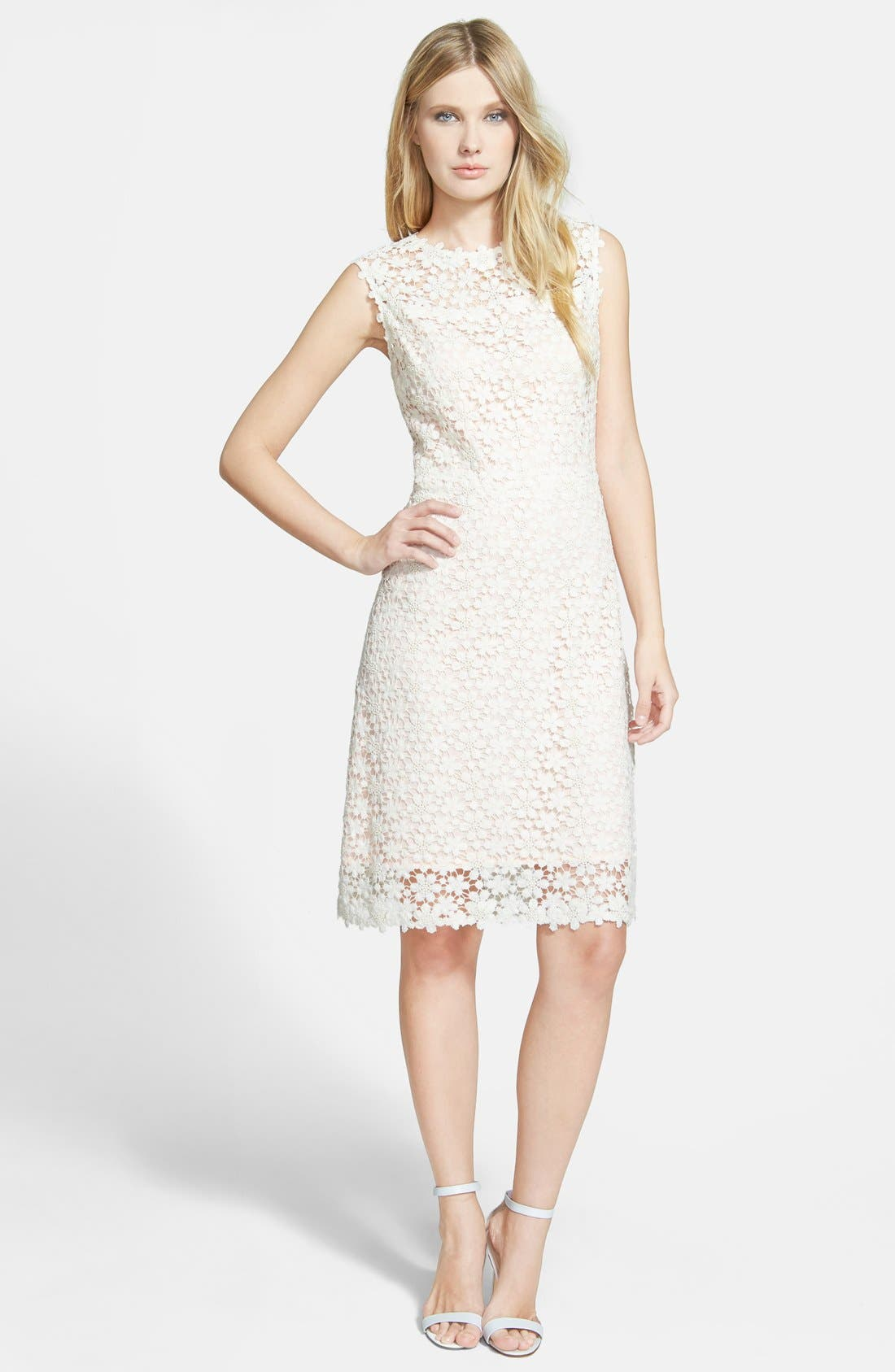 'Ophelia' Floral Lace Dress, Main, color, 101