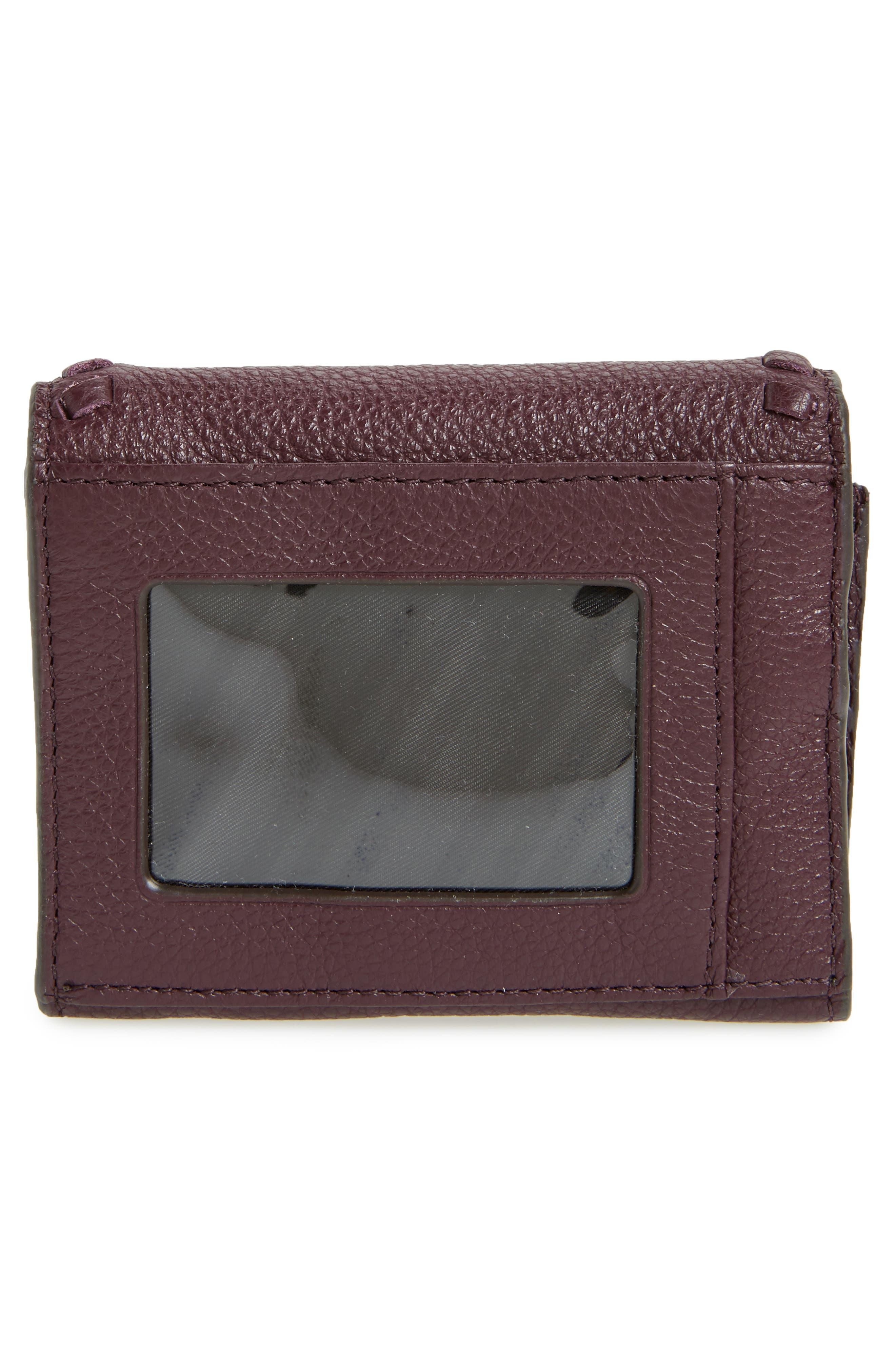 Mini Vanity Leather Wallet,                             Alternate thumbnail 4, color,                             610
