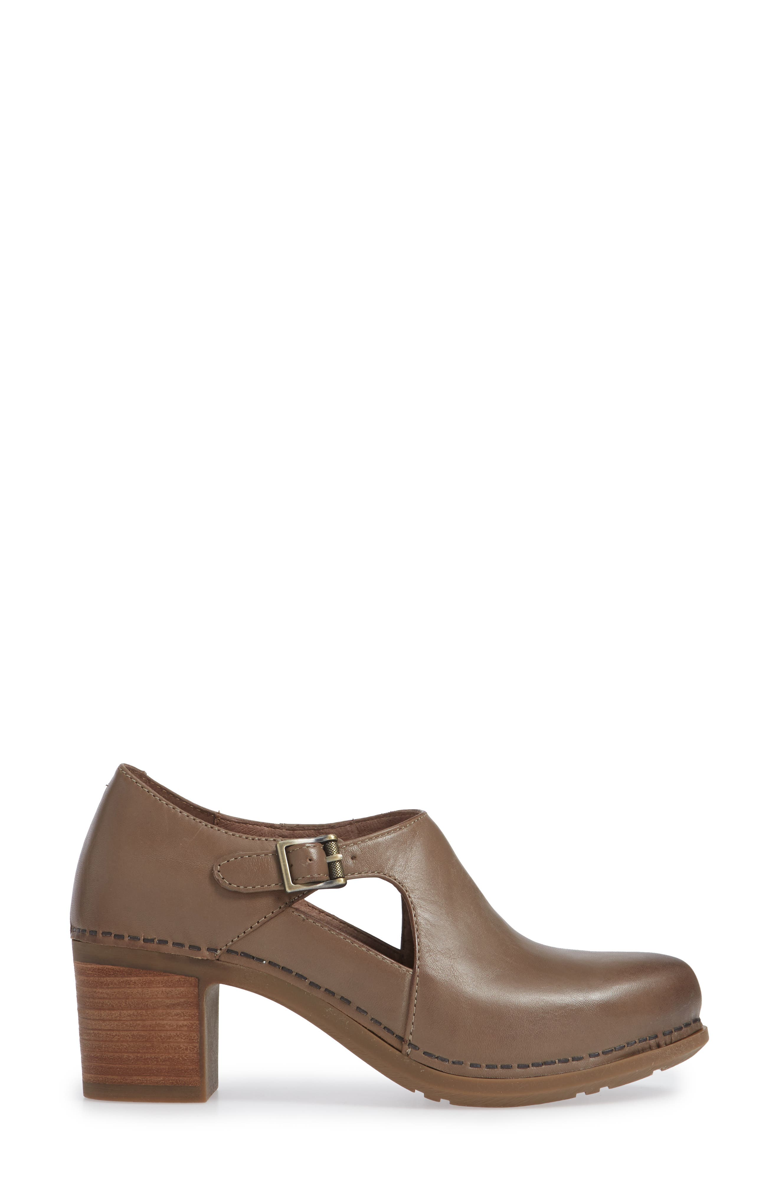 Hollie Bootie,                             Alternate thumbnail 3, color,                             TAUPE BURNISHED LEATHER