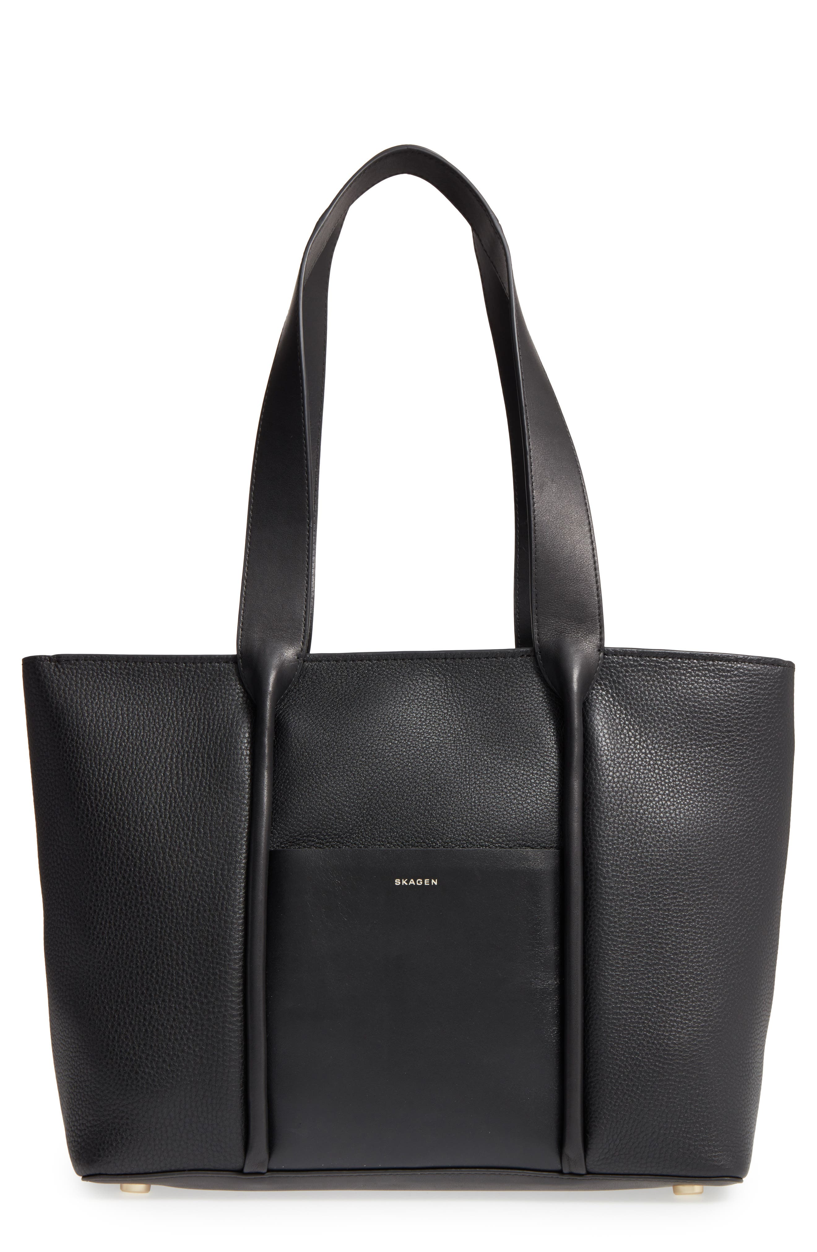Lisabet Leather Tote,                         Main,                         color, 001