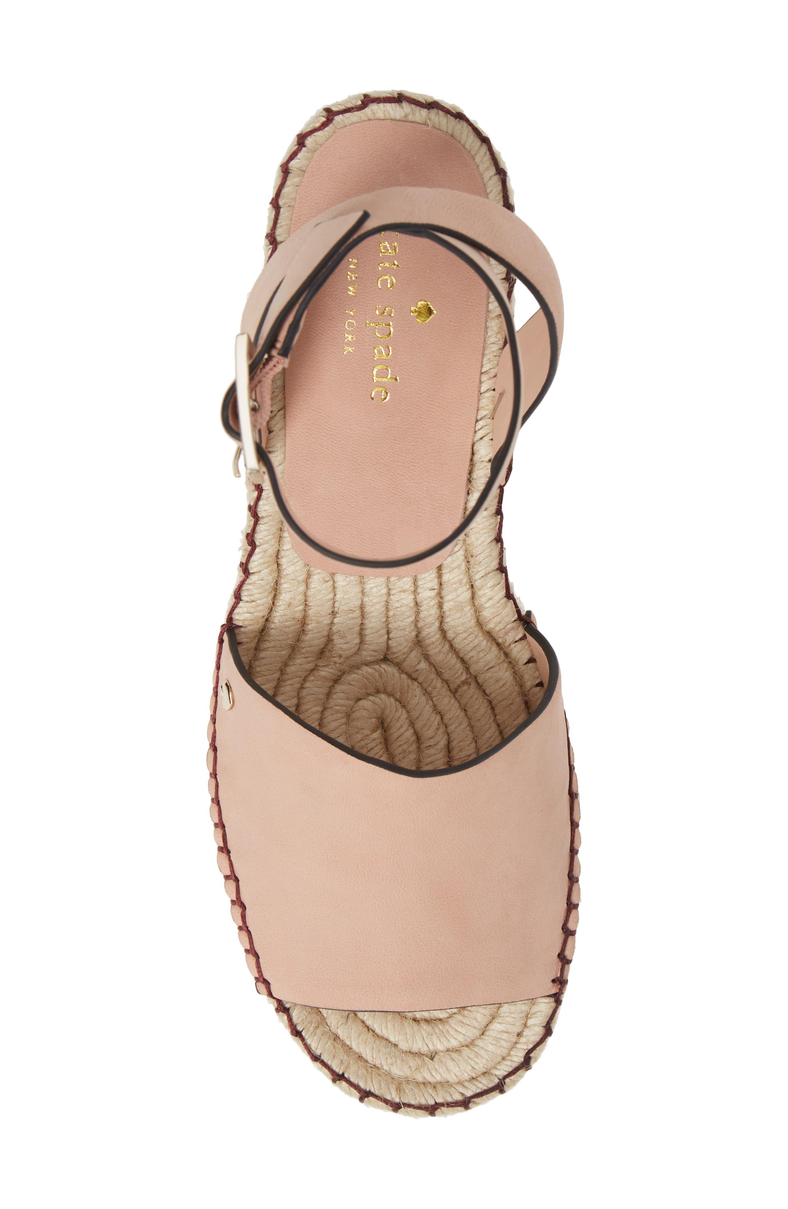 felipa wedge sandal,                             Alternate thumbnail 5, color,                             CONCH SHELL NUBUK