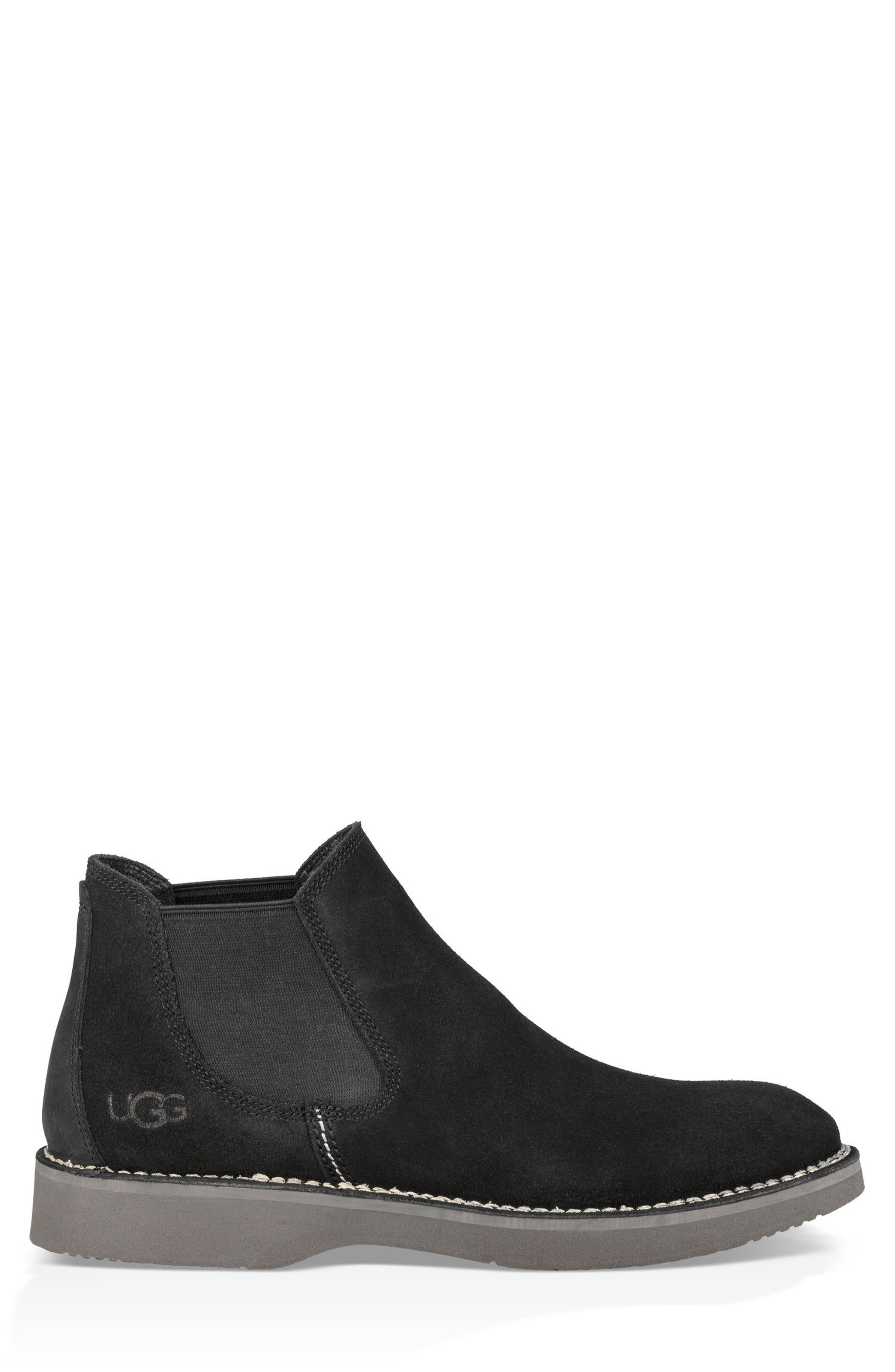 Camino Chelsea Boot,                             Alternate thumbnail 3, color,                             BLACK