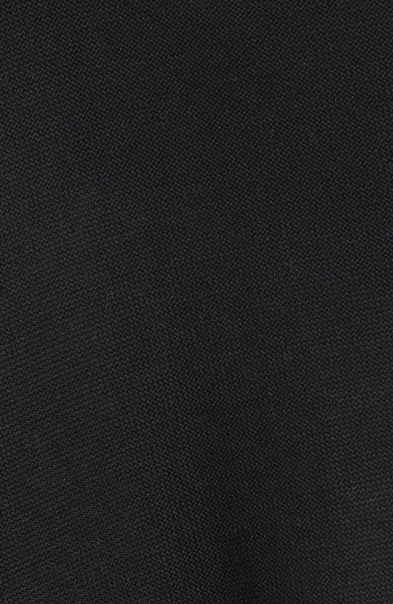 Simple Tencel<sup>®</sup> & Merino Wool Cardigan,                             Alternate thumbnail 5, color,                             001