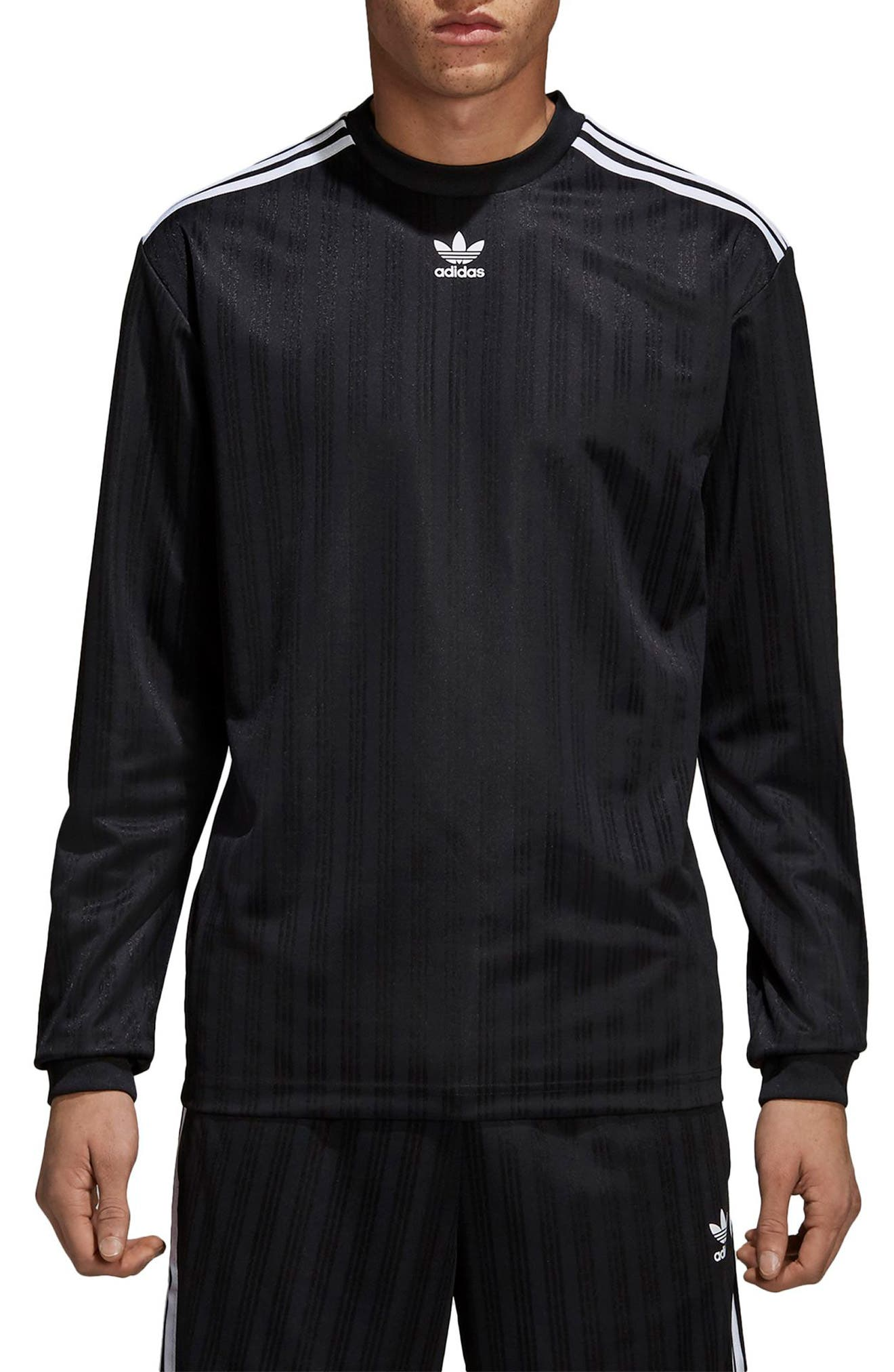 ADIDAS ORIGINALS Long Sleeve Jersey Shirt, Main, color, 001