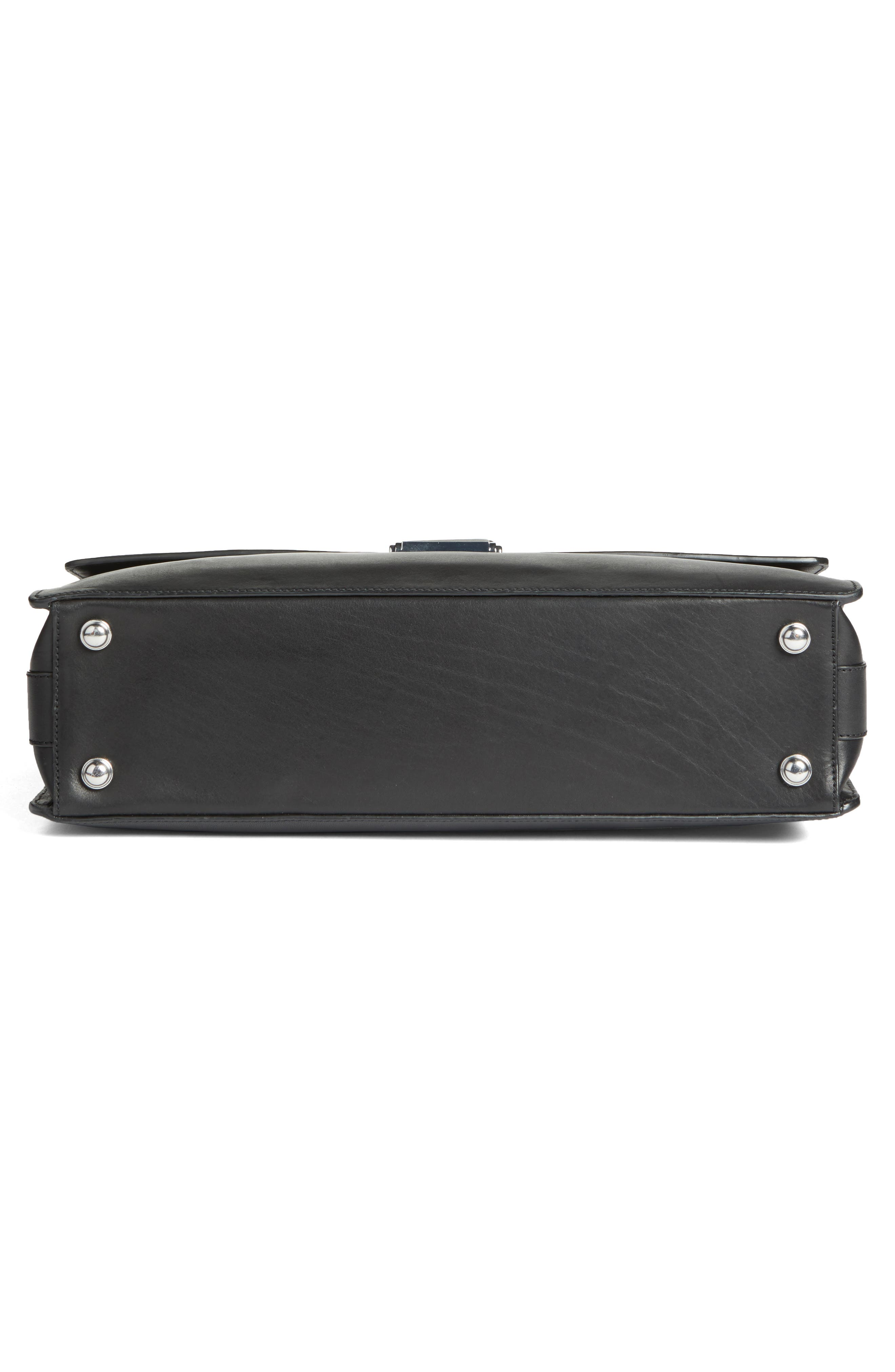 Leather Briefcase,                             Alternate thumbnail 6, color,                             001