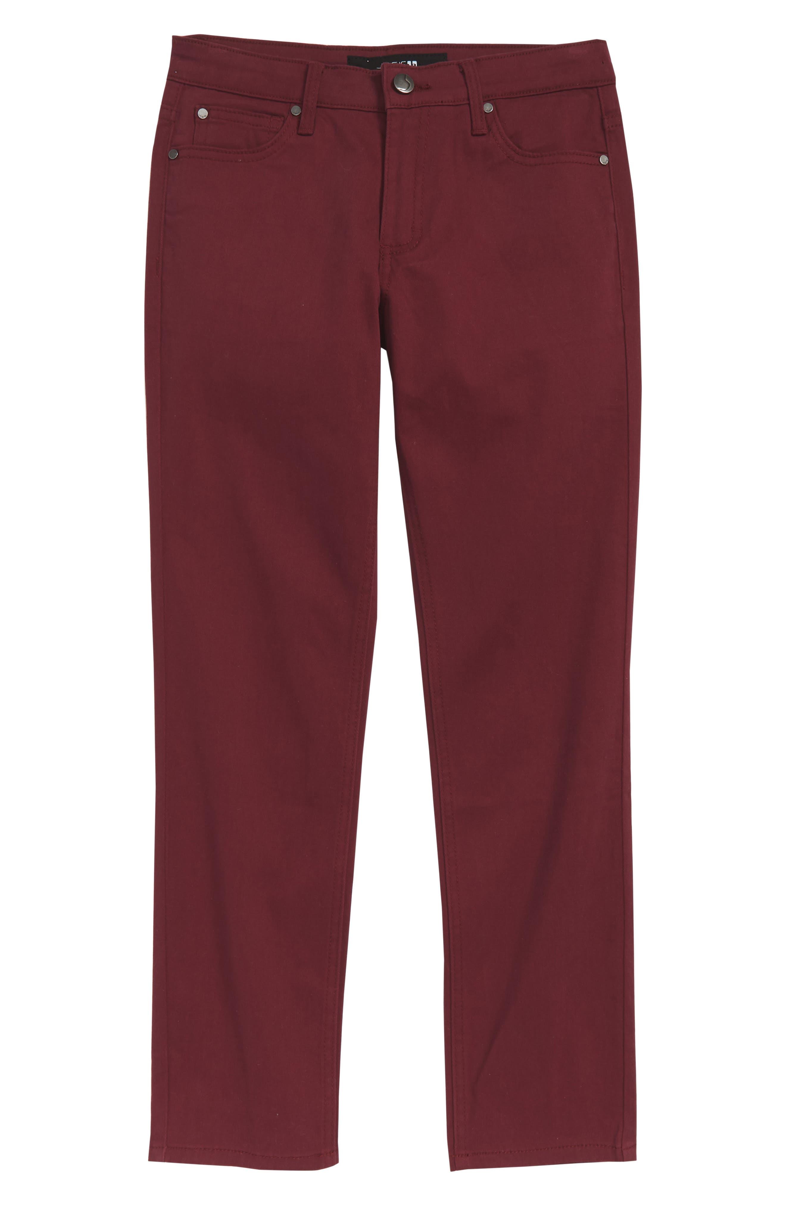 Brixton Straight Leg Stretch Twill Pants,                         Main,                         color, WINE