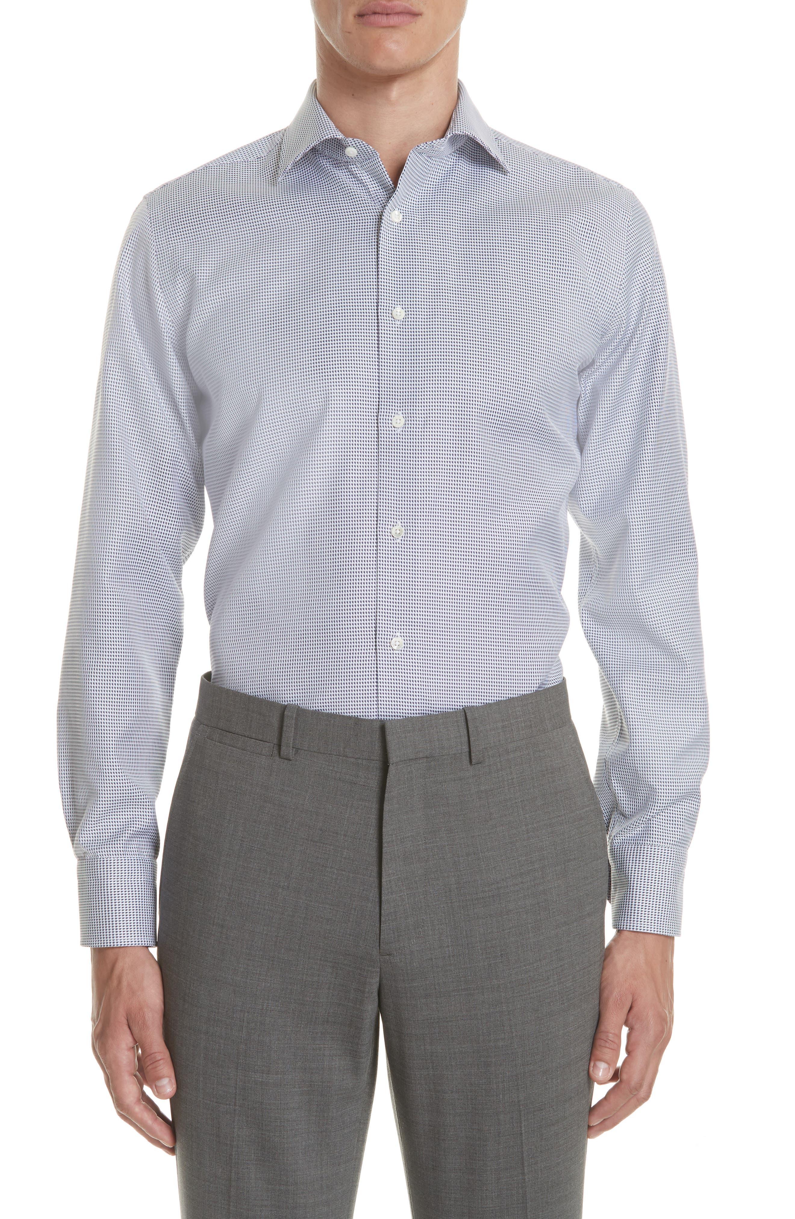 Regular Fit Print Dress Shirt,                             Main thumbnail 1, color,                             401