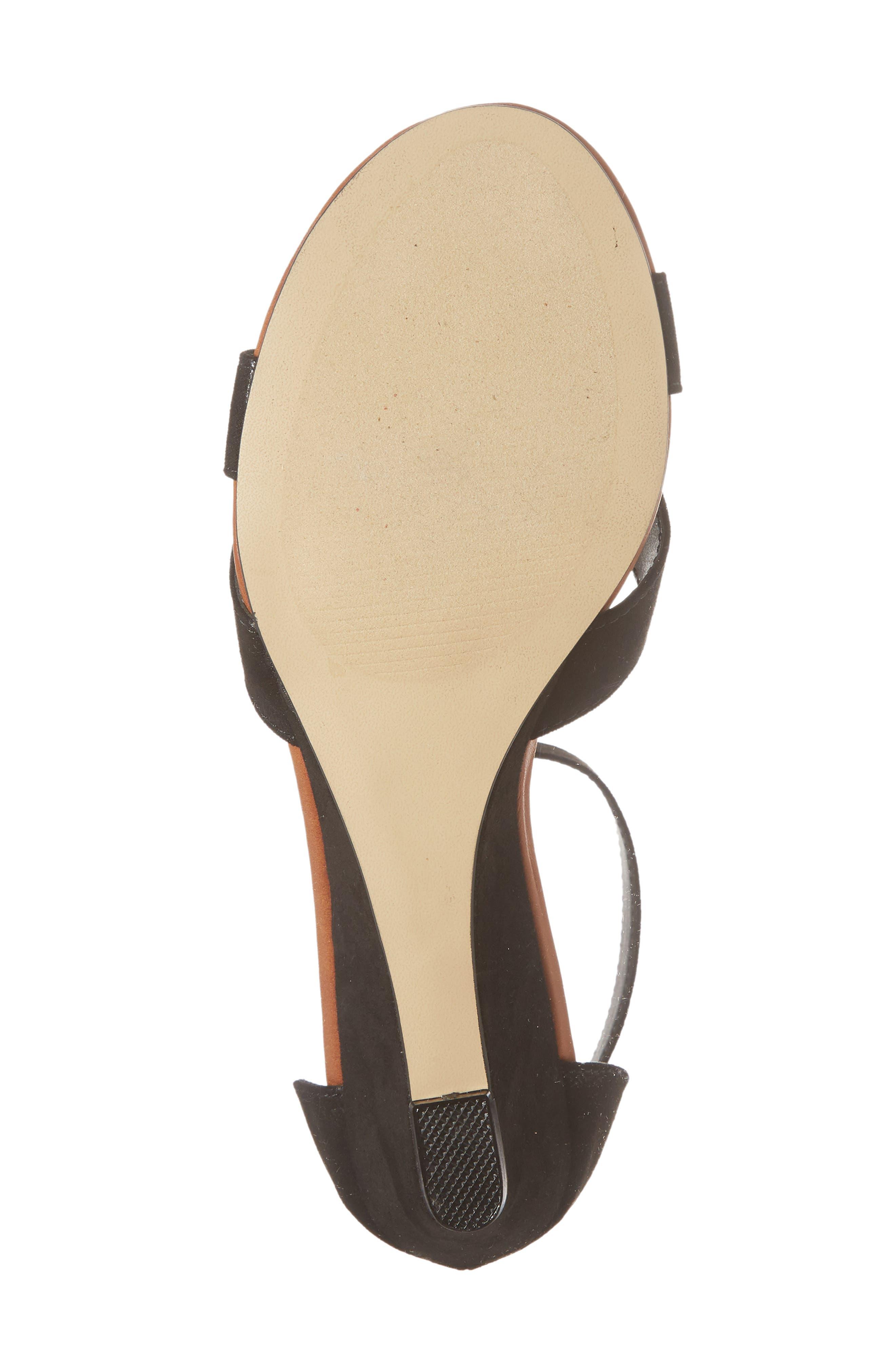 Strobe Wedge Sandal,                             Alternate thumbnail 6, color,                             003