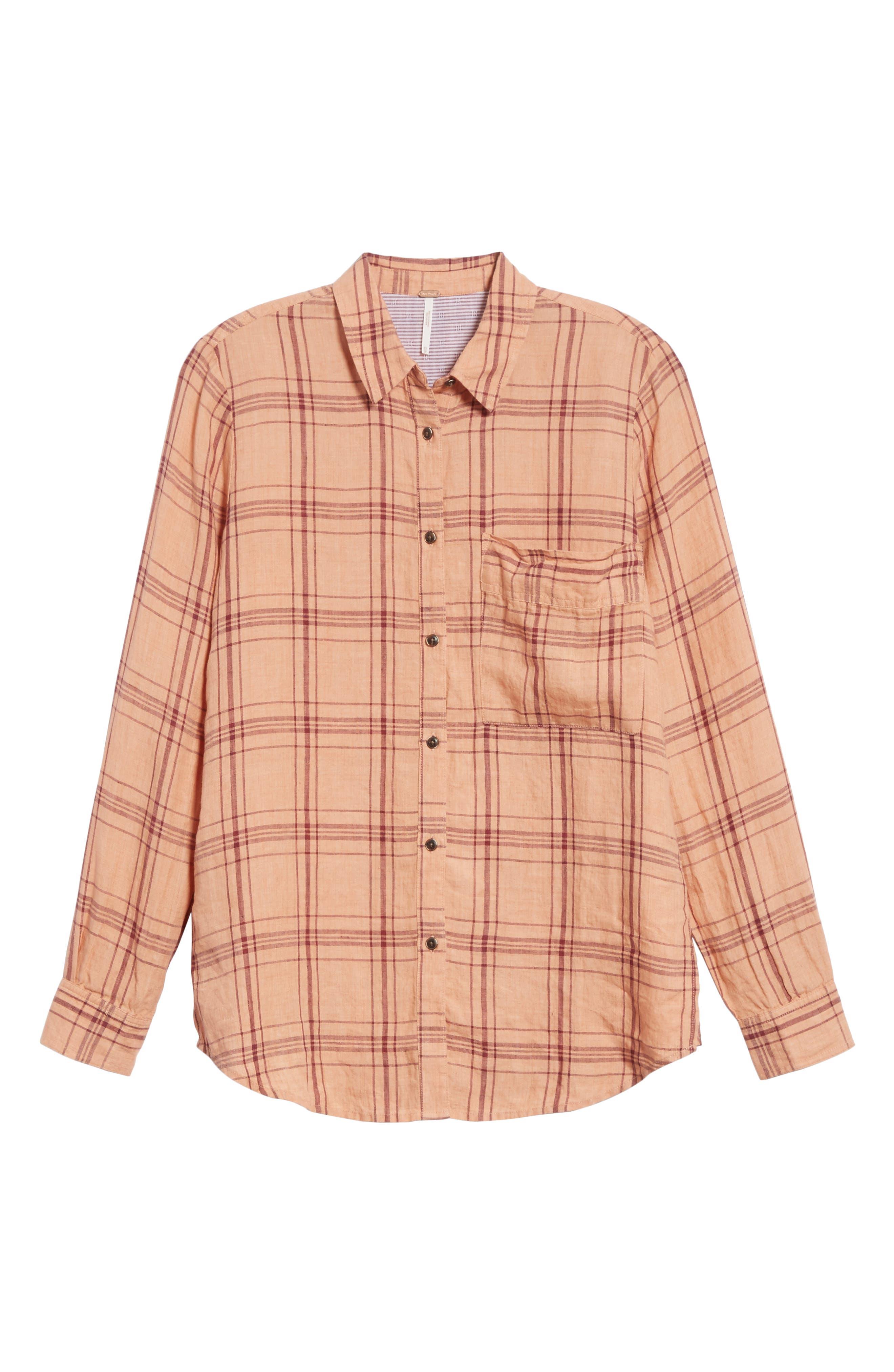 No Limits Plaid Linen Shirt,                             Alternate thumbnail 12, color,