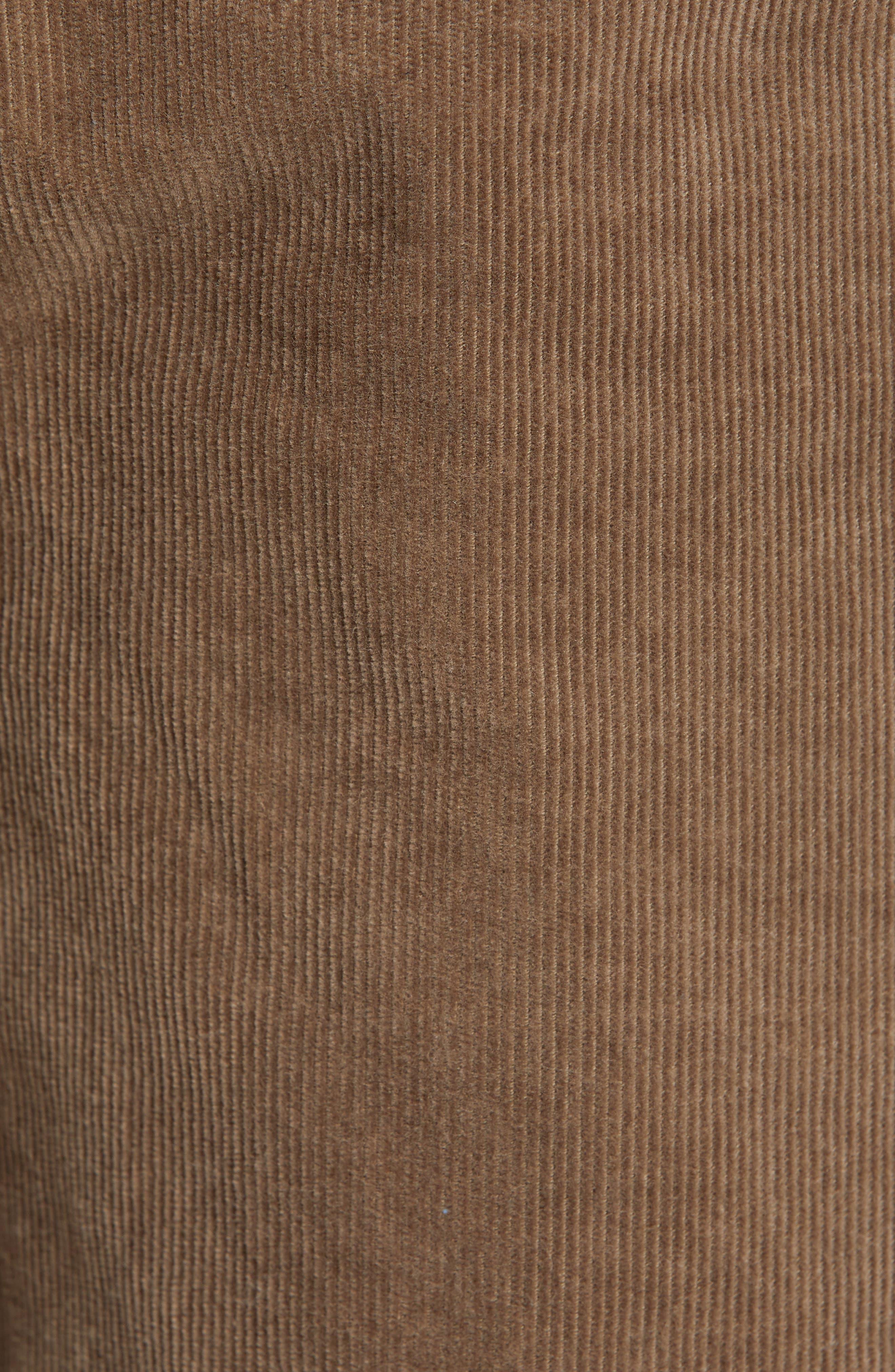 Solver Straight Leg Corduroy Pants,                             Alternate thumbnail 5, color,                             MUSHROOM