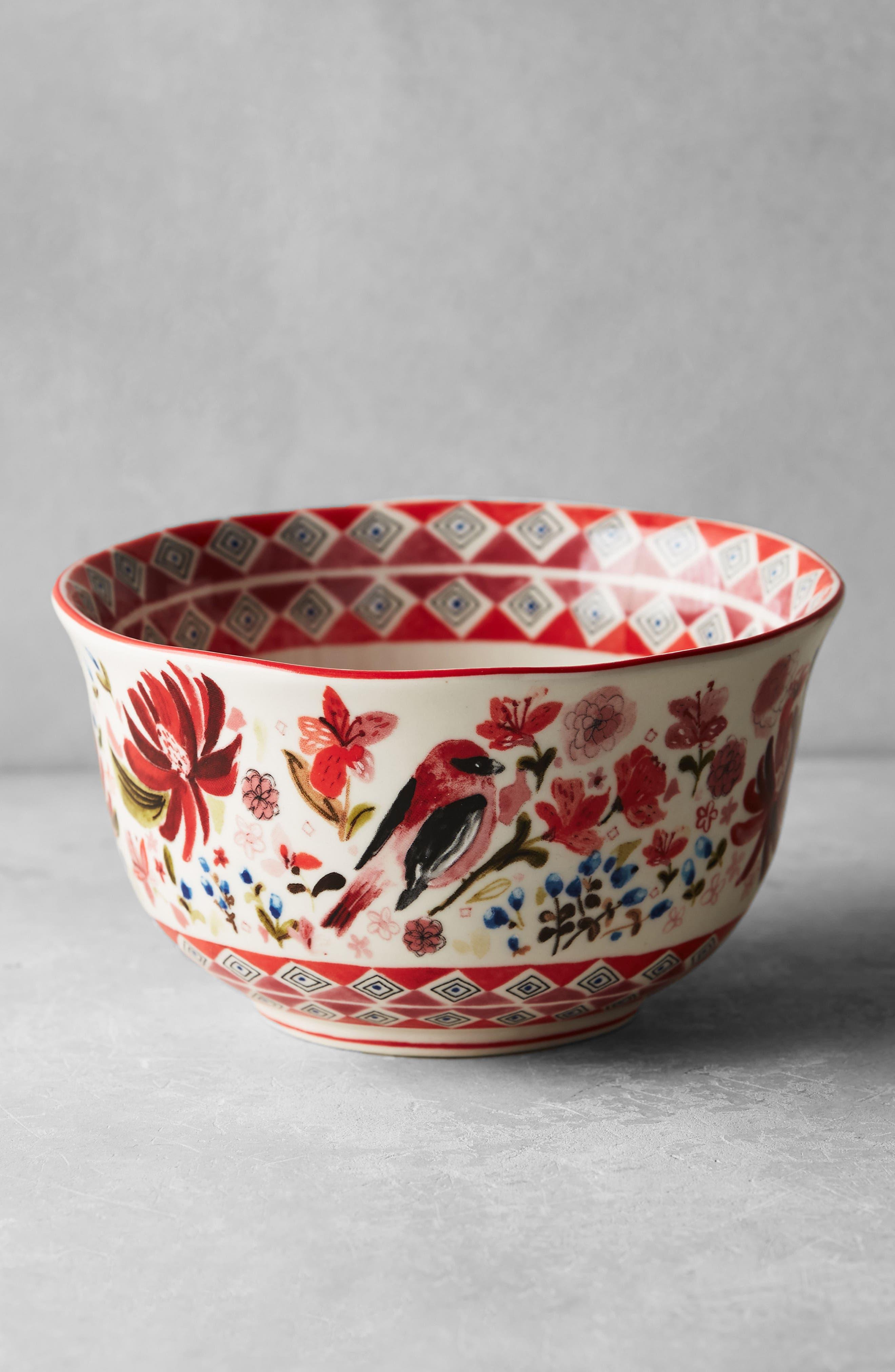 Wing & Petal Stoneware Bowl,                             Alternate thumbnail 9, color,