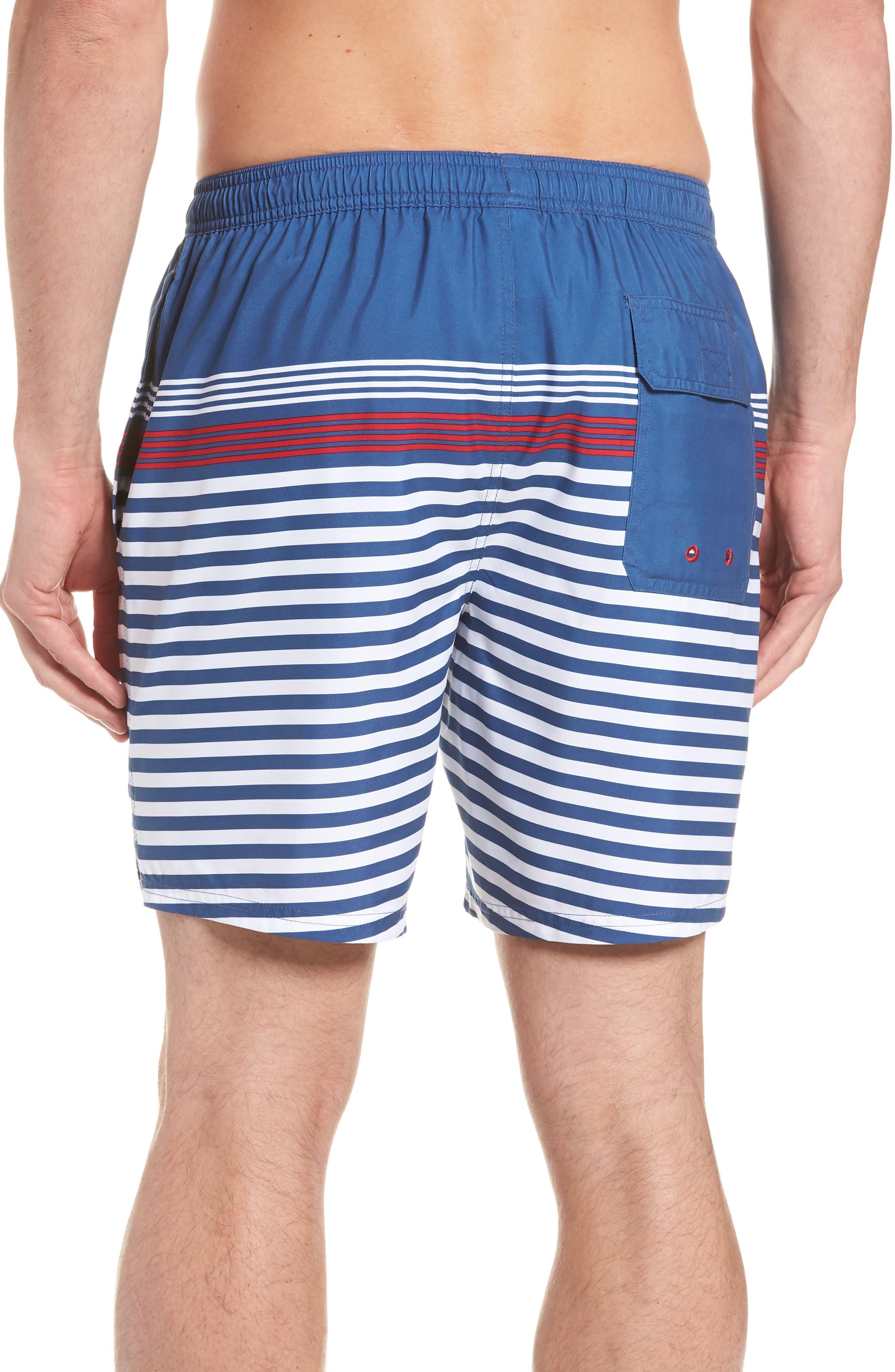 Chappy Summerall Stripe Swim Trunks,                             Alternate thumbnail 2, color,                             MOONSHINE