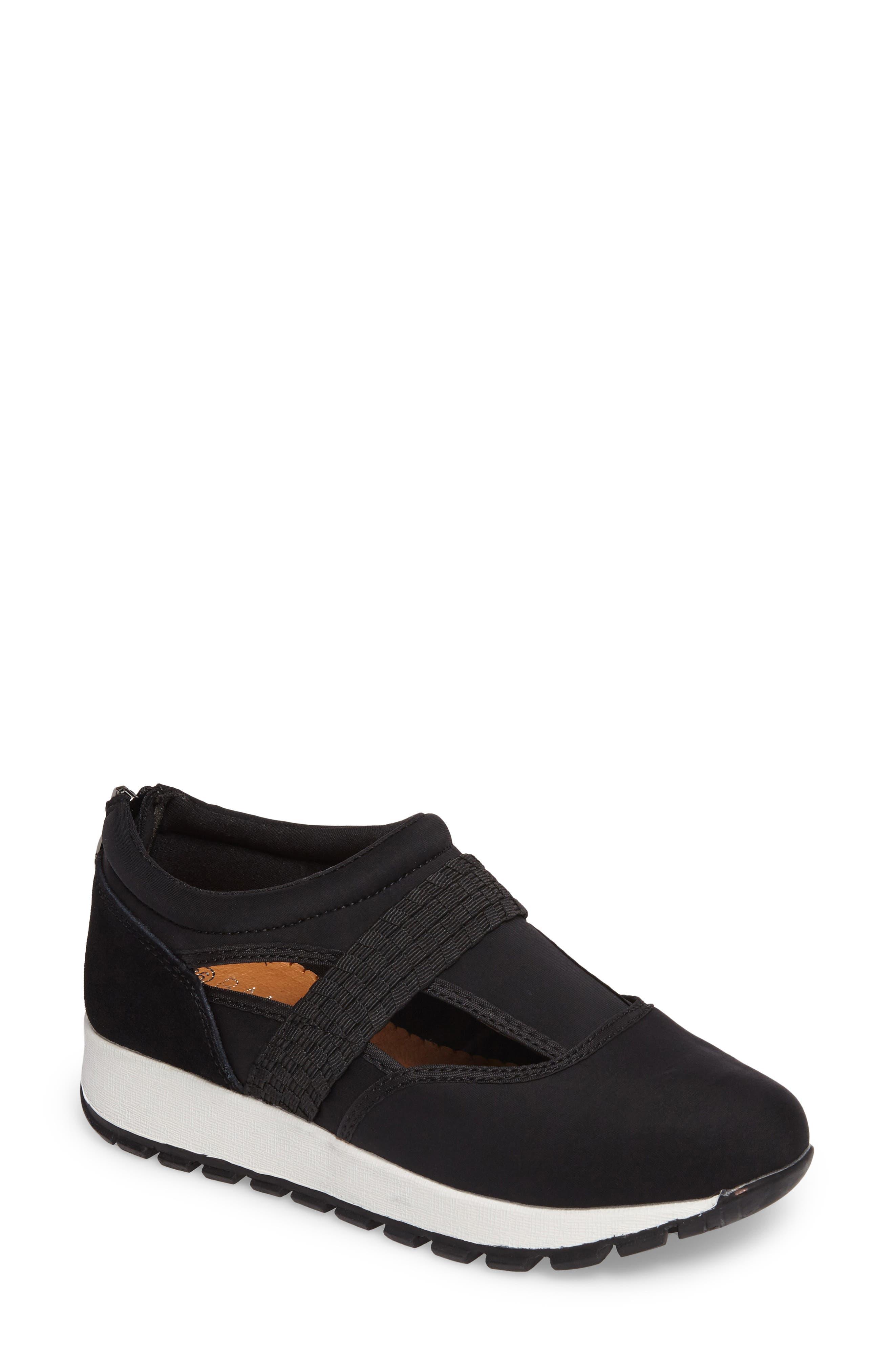 Bernie Mev Janelle Sneaker,                             Main thumbnail 1, color,                             BLACK FABRIC