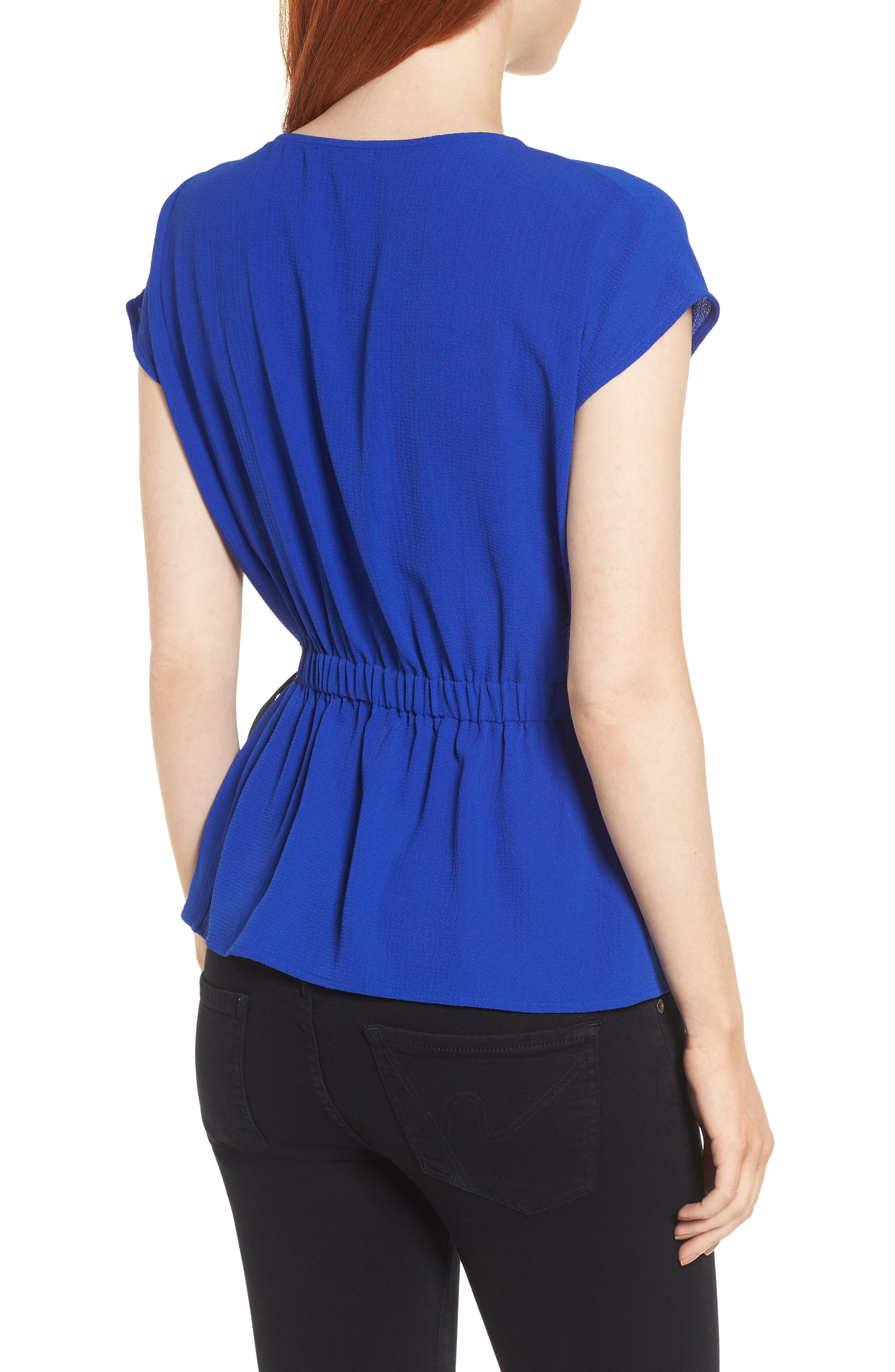 Gathered Waist Side Tie Top,                             Alternate thumbnail 10, color,