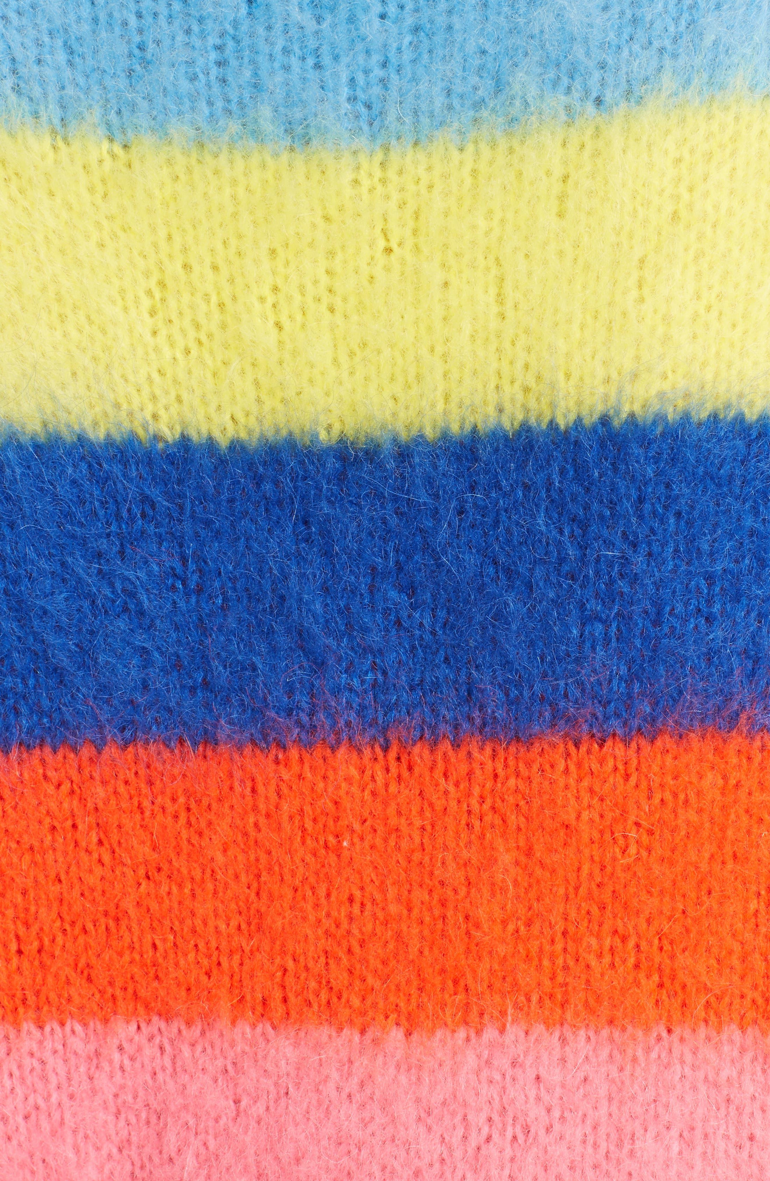 Multi Stripe Sweater,                             Alternate thumbnail 5, color,                             020