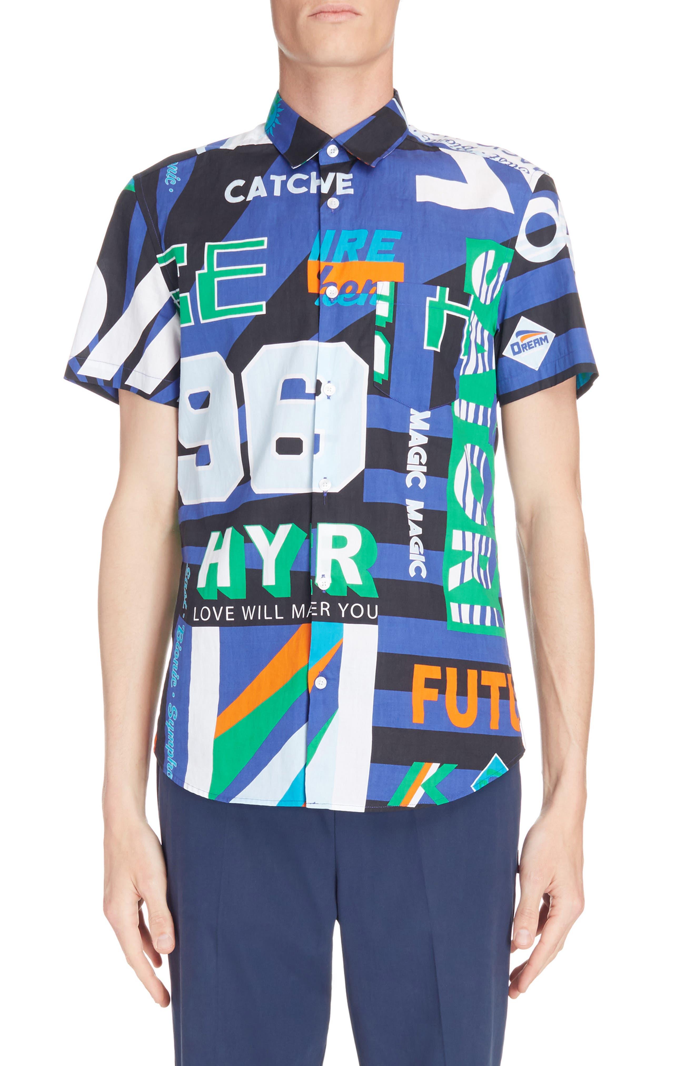Sport Print Woven Shirt,                             Main thumbnail 1, color,
