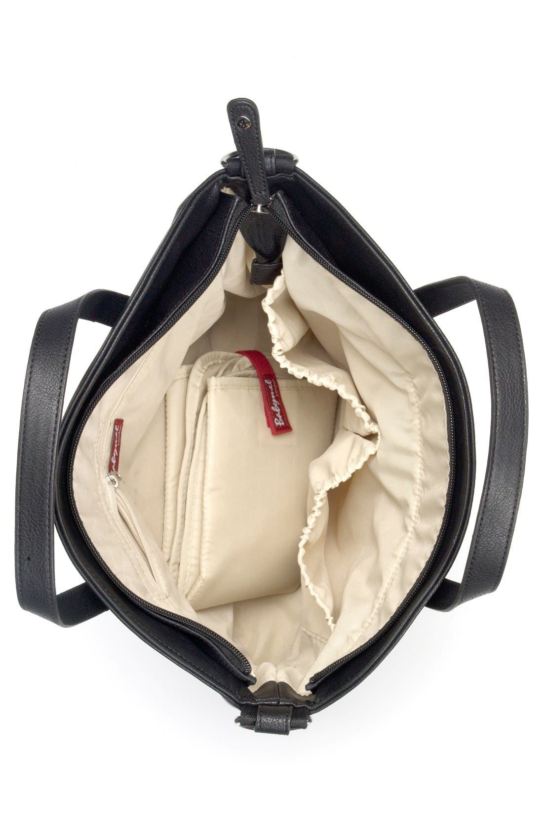 'Grace' Diaper Bag,                             Alternate thumbnail 4, color,                             BLACK