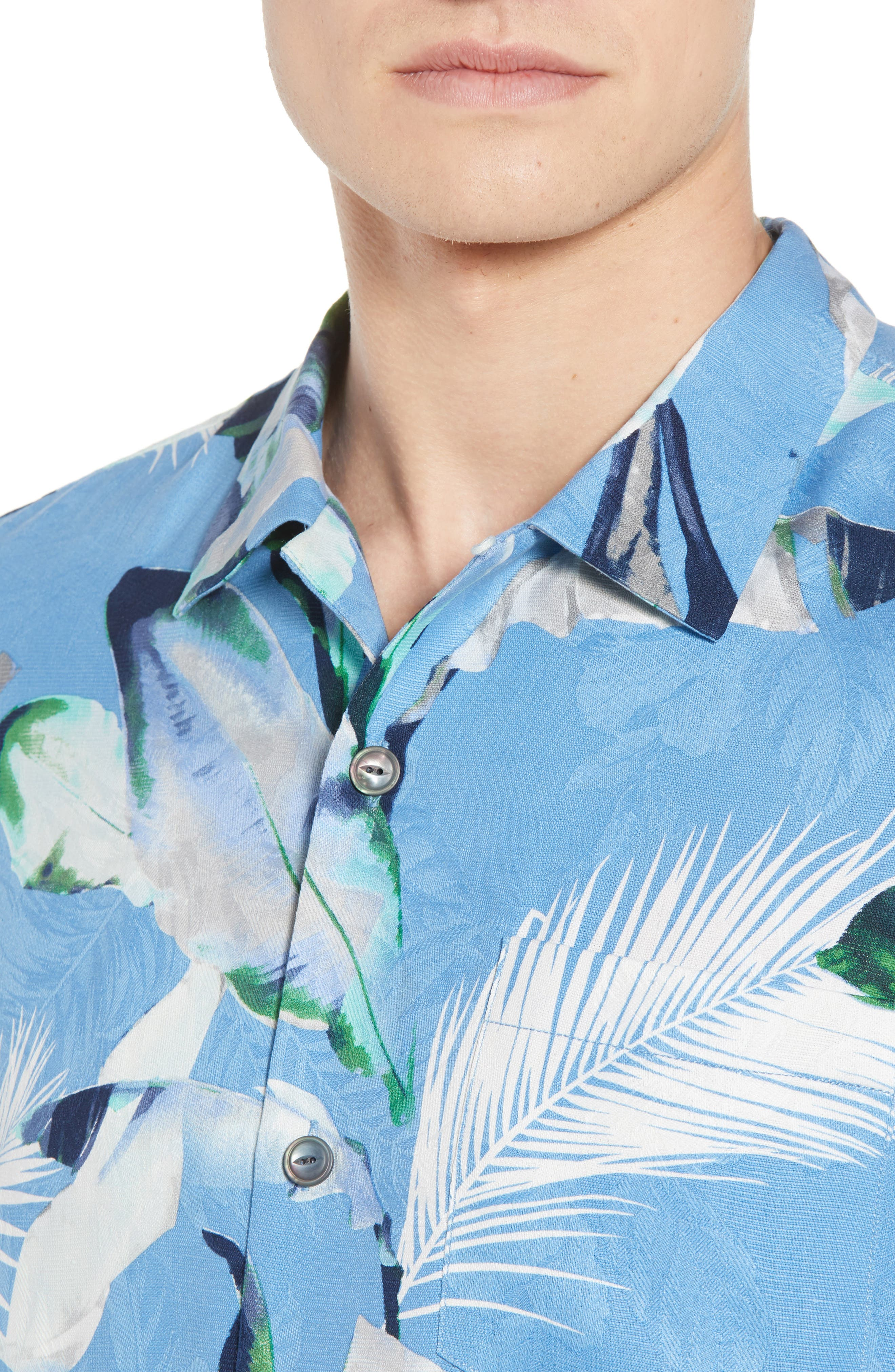 Garden of Hope and Courage Silk Camp Shirt,                             Alternate thumbnail 8, color,