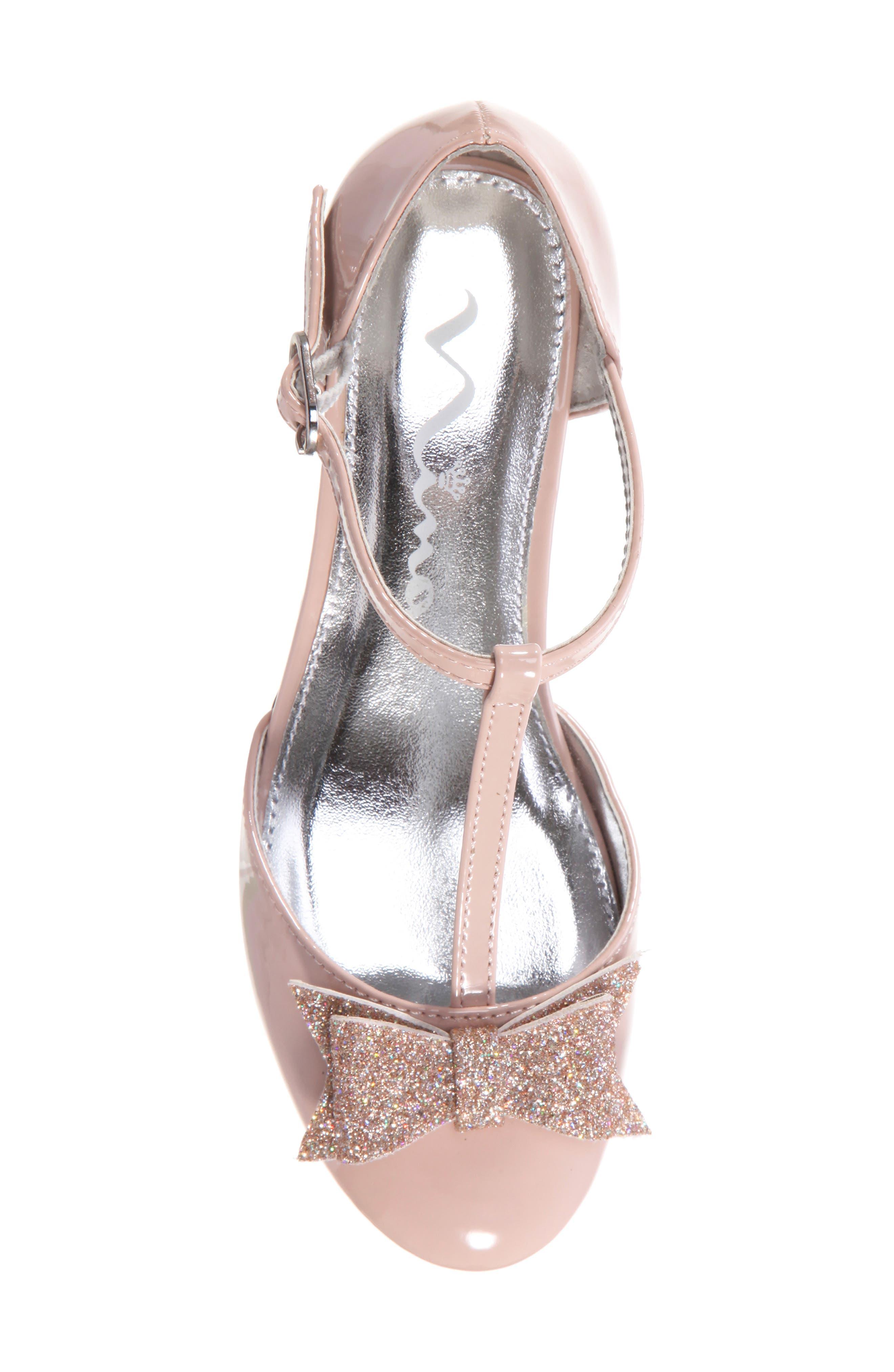 Marvette T-Strap Sandal,                             Alternate thumbnail 5, color,                             BLUSH PATENT