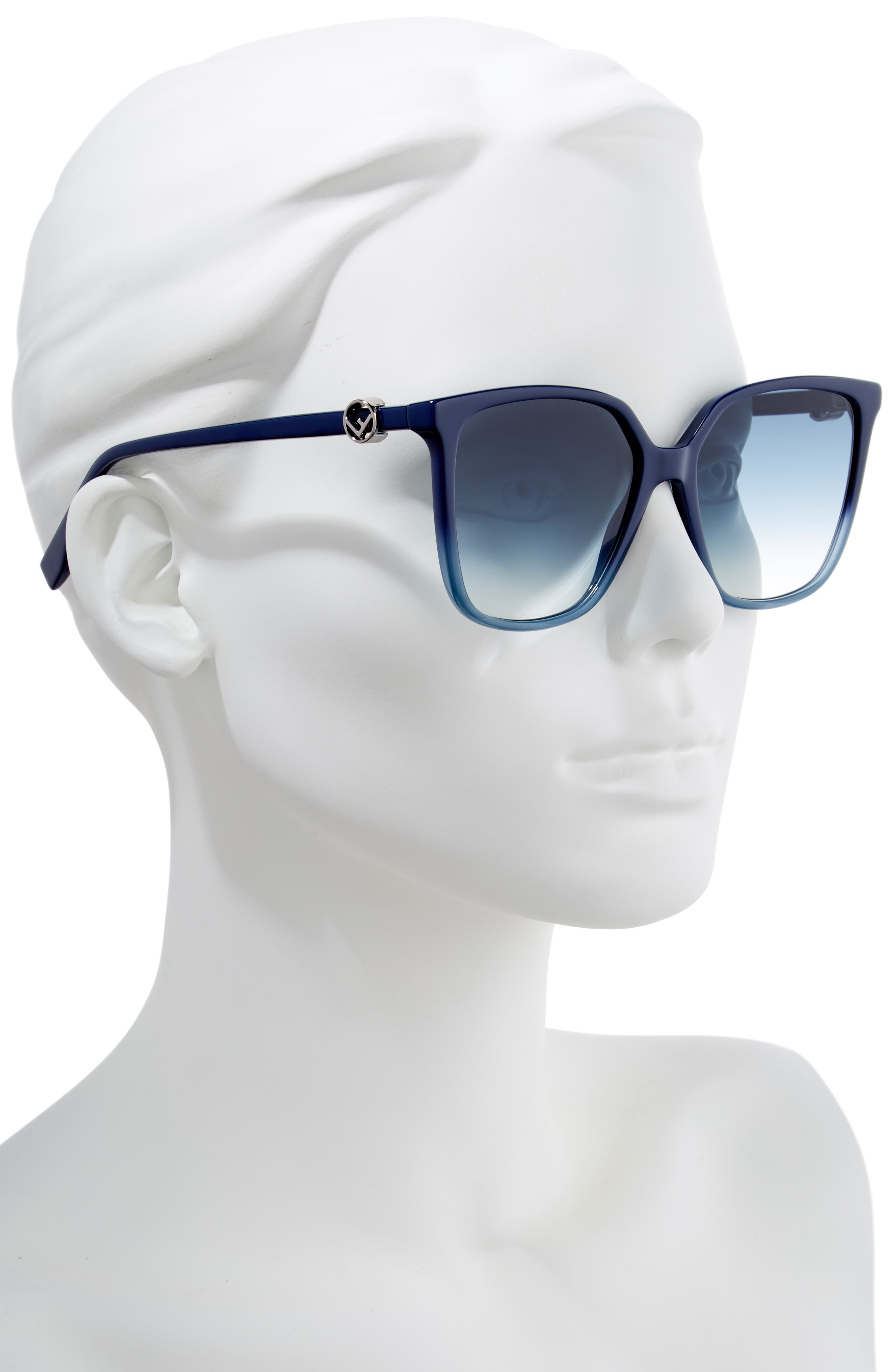 57mm Sunglasses,                             Alternate thumbnail 2, color,                             BLUE