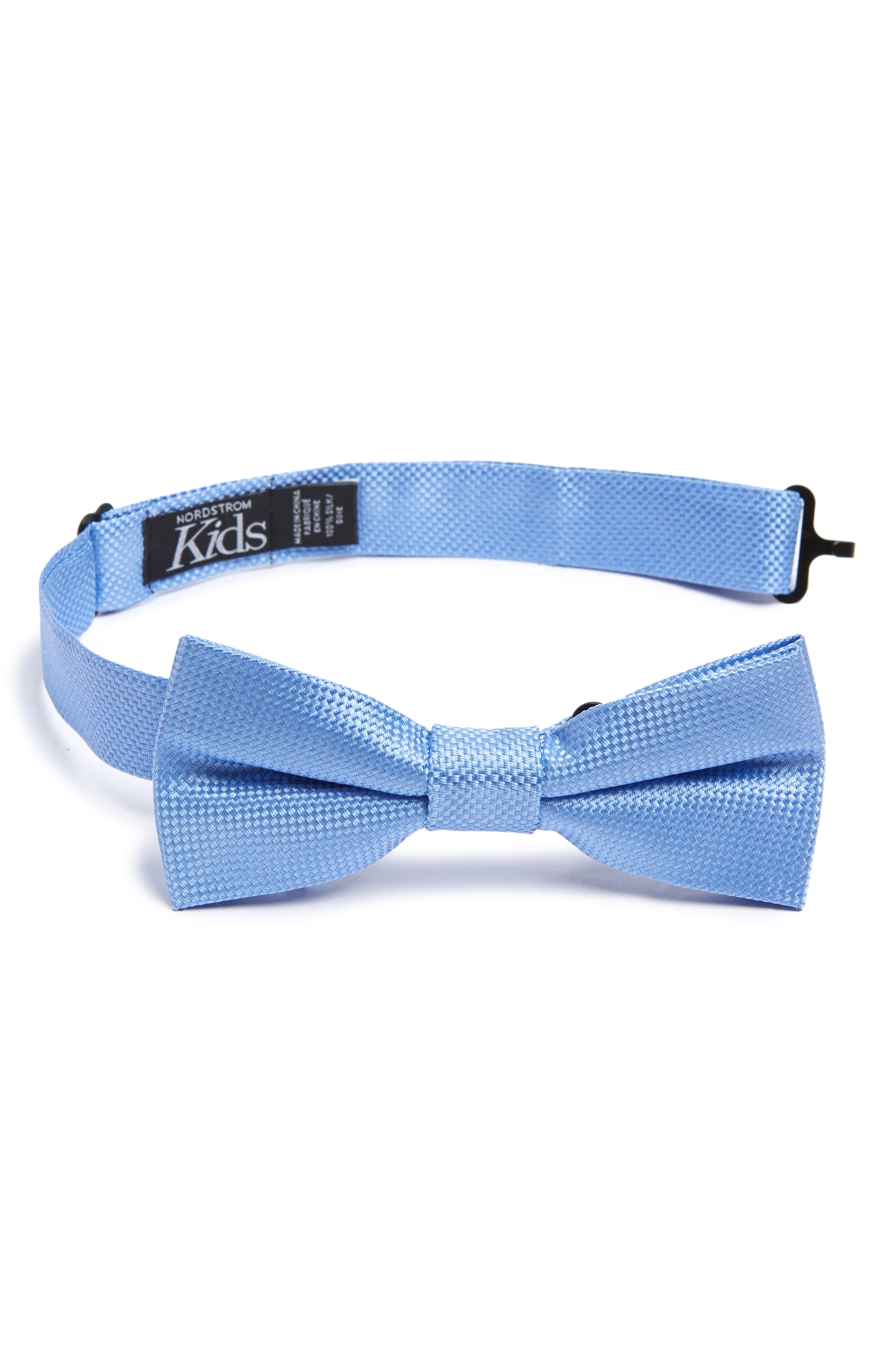 Solid Silk Bow Tie,                             Main thumbnail 1, color,                             LIGHT BLUE