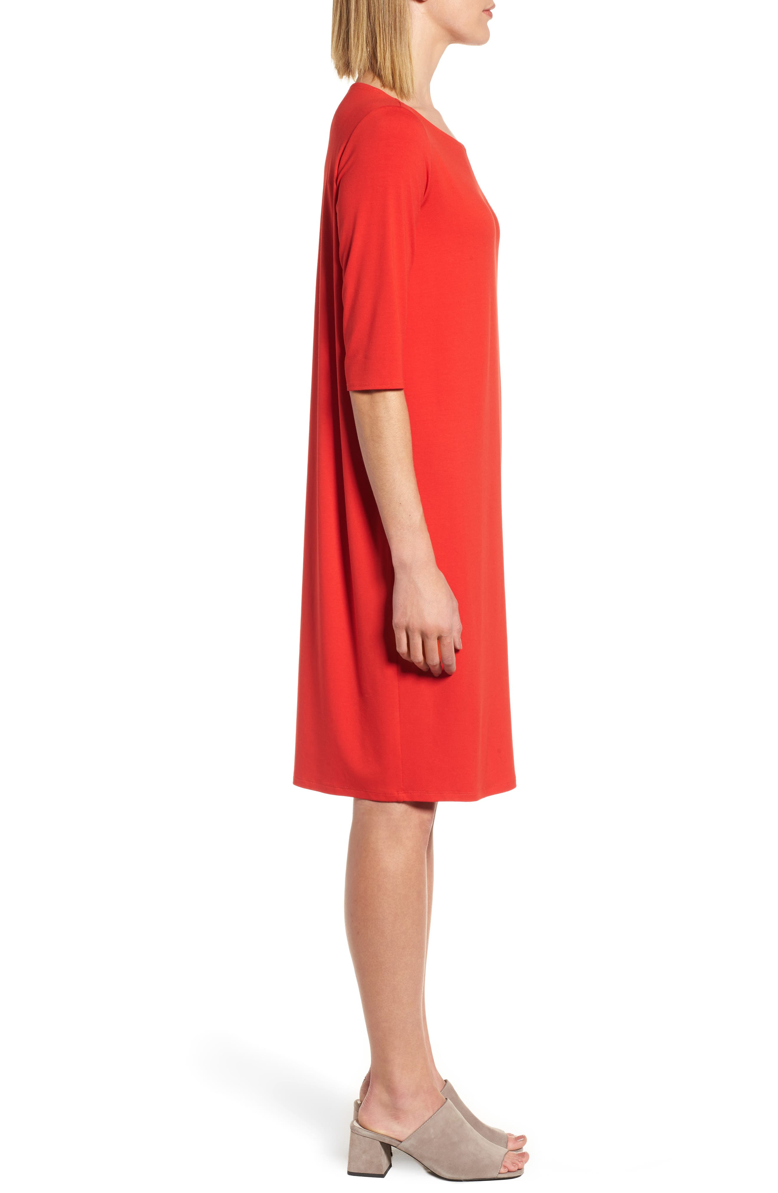 Jersey Shift Dress,                             Alternate thumbnail 9, color,