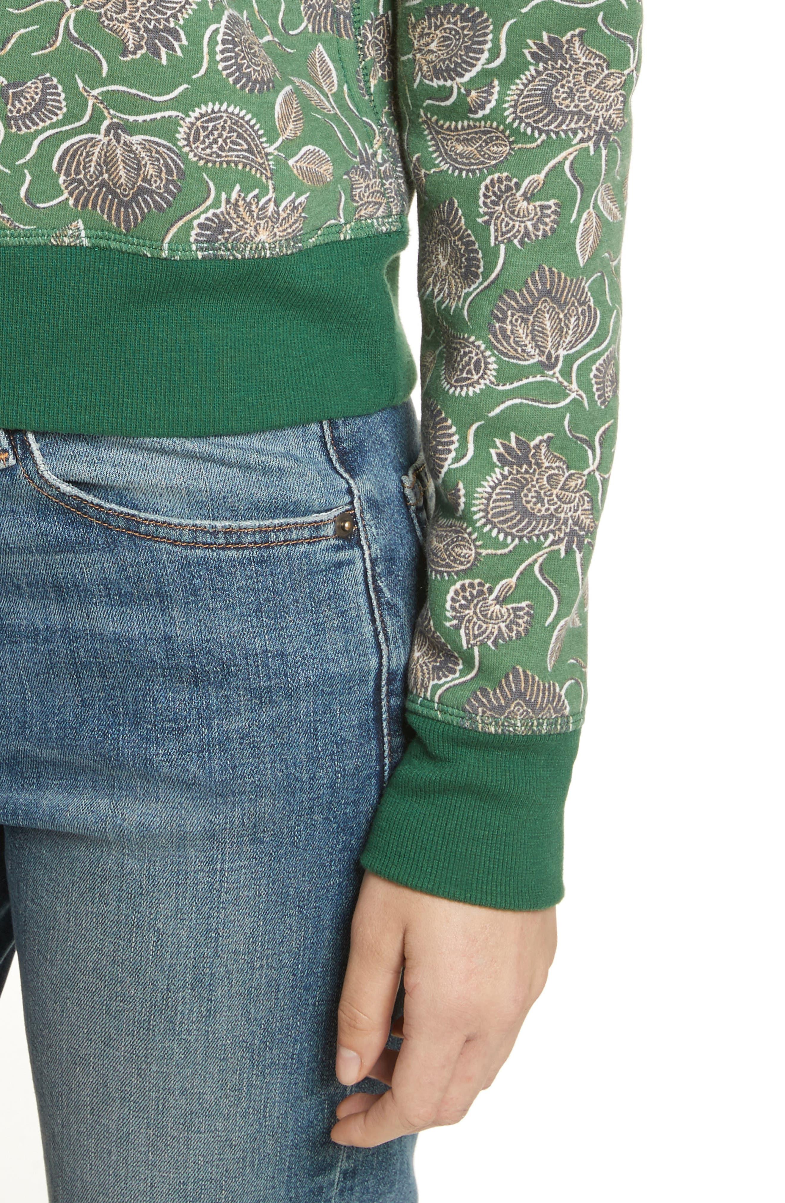 Lotus Paisley Sweatshirt,                             Alternate thumbnail 4, color,                             317