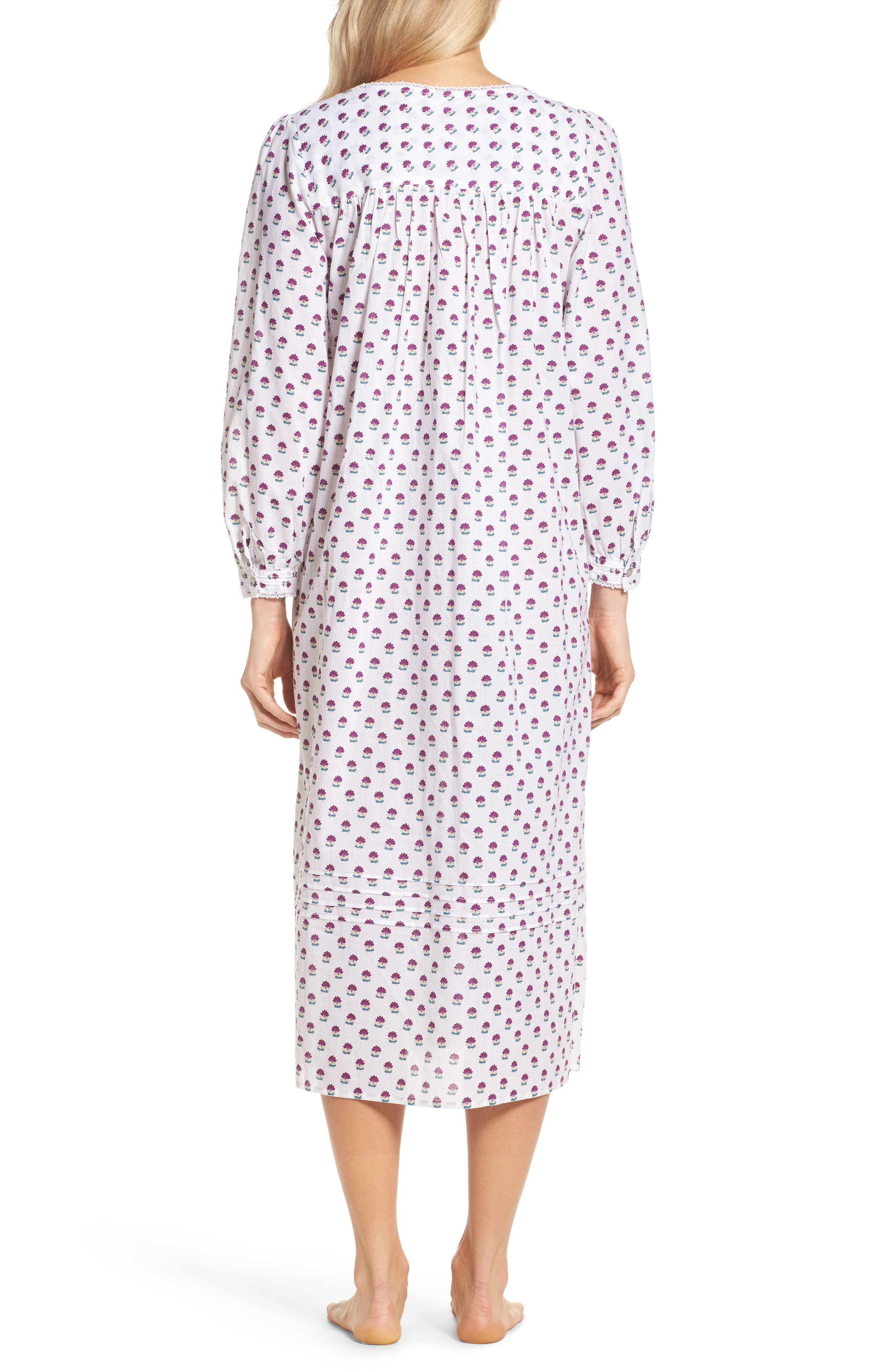 Ballet Flannel Nightgown,                             Alternate thumbnail 3, color,