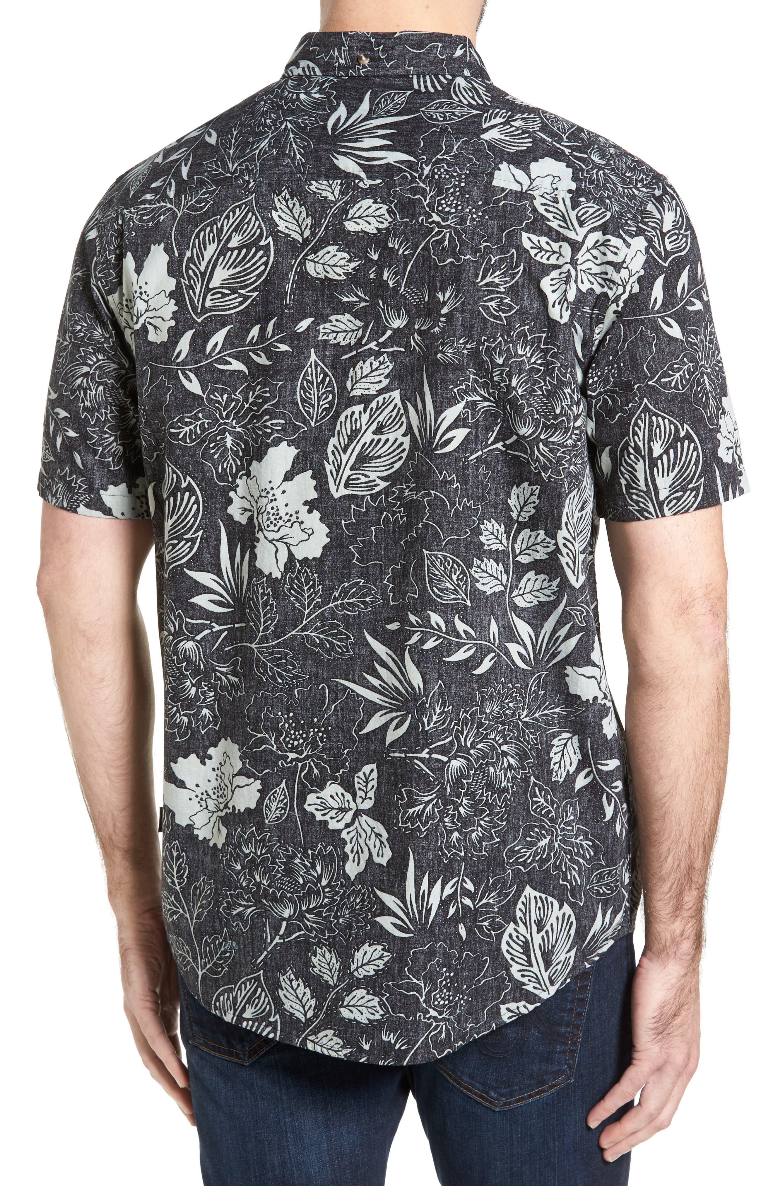 Samoa Print Sport Shirt,                             Alternate thumbnail 3, color,
