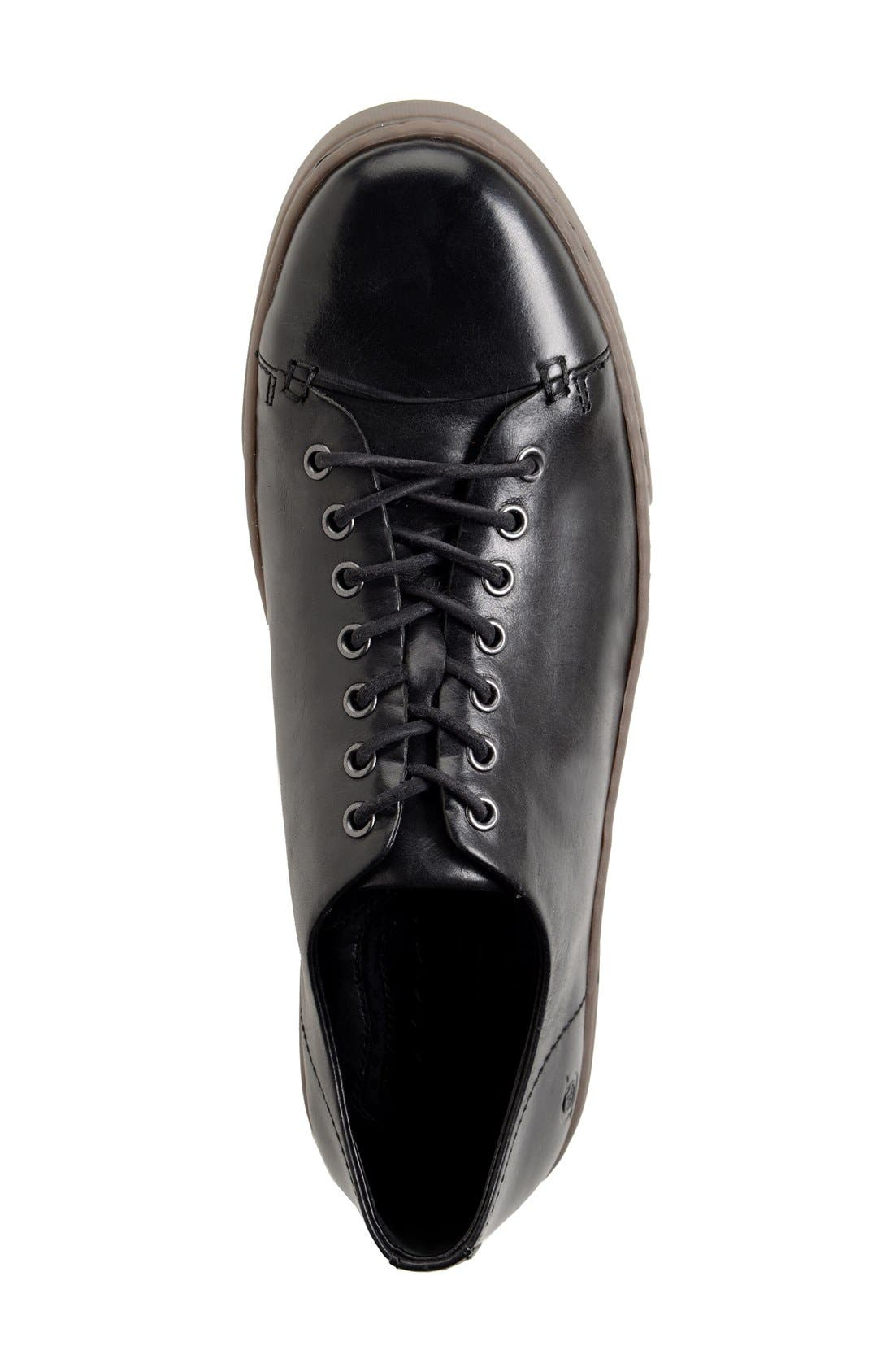'Bayne' Cap Toe Sneaker,                             Alternate thumbnail 3, color,                             001