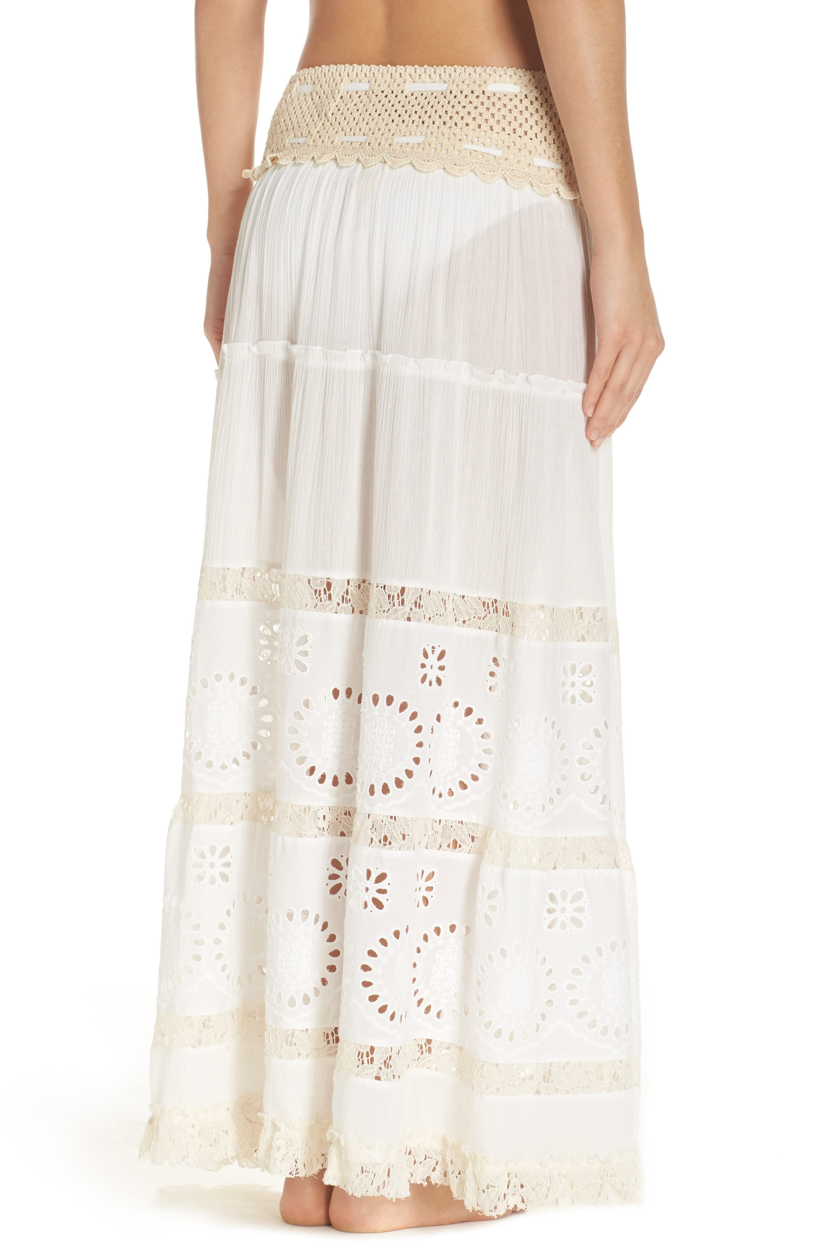 Cover-Up Maxi Skirt,                             Alternate thumbnail 2, color,                             900