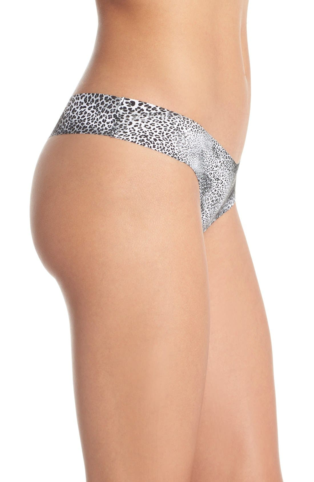 Print Microfiber Thong,                             Alternate thumbnail 211, color,
