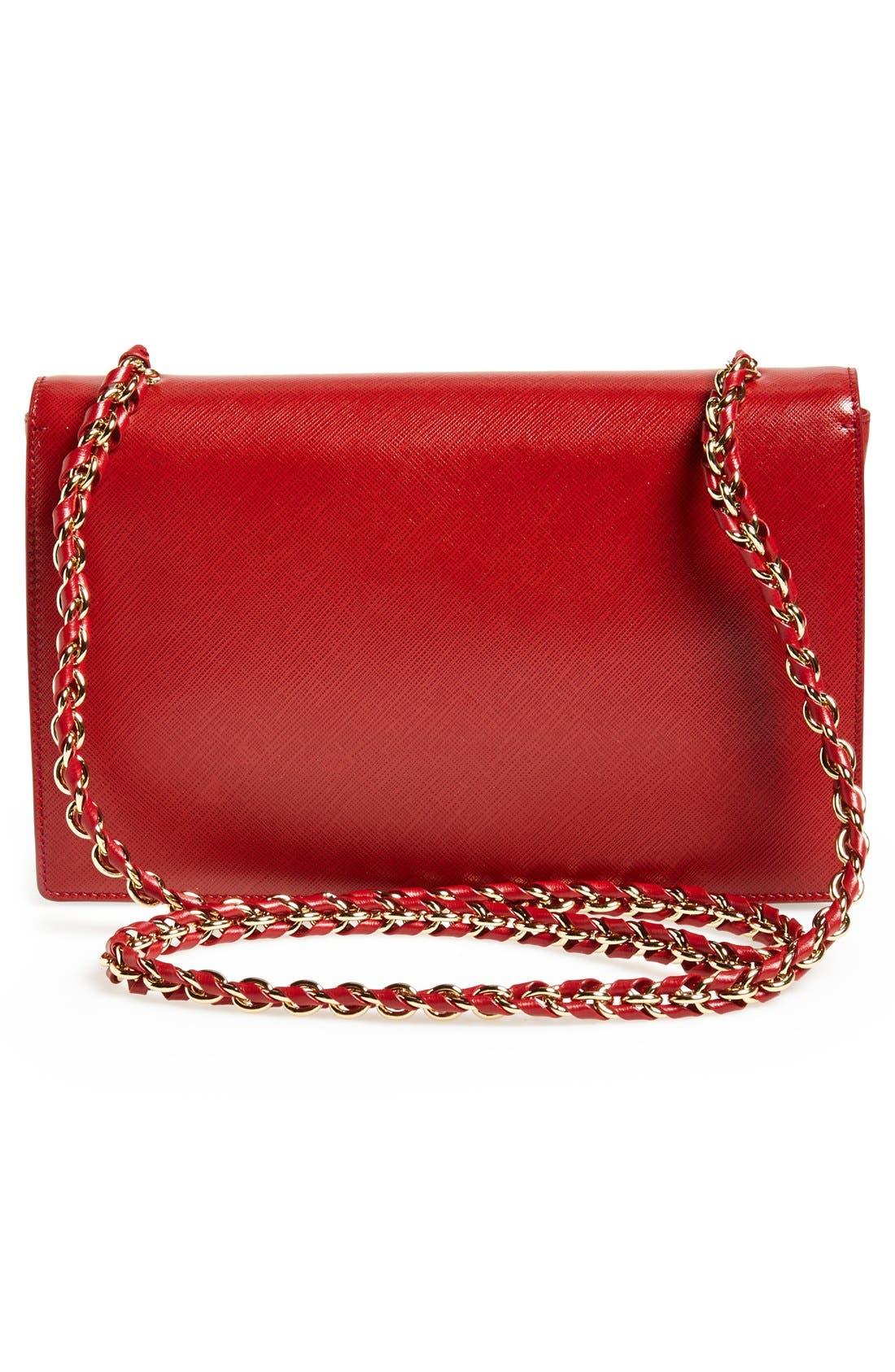 Saffiano Leather Shoulder Bag,                             Alternate thumbnail 12, color,