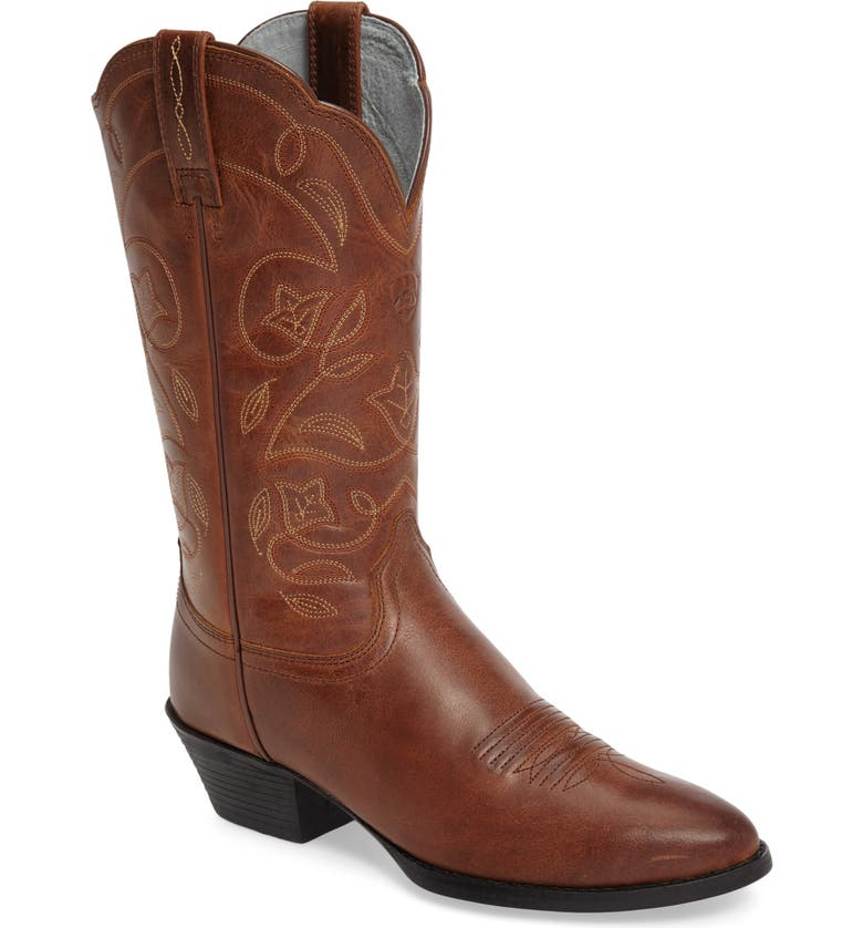 Heritage Western R-Toe Boot,                         Main,                         color, RUSSET REBEL LEATHER