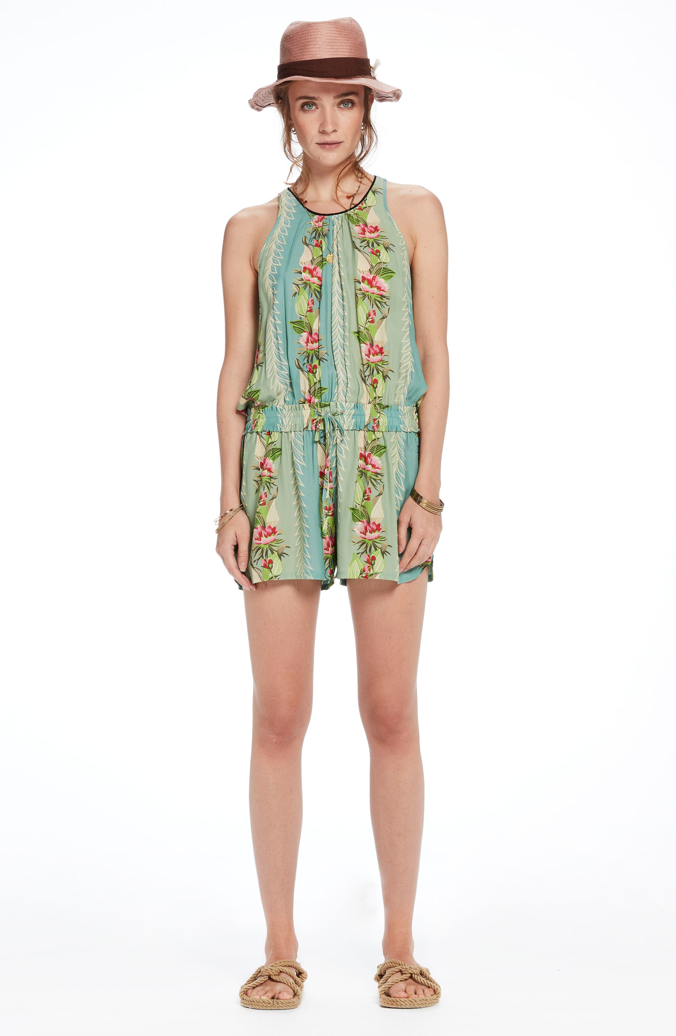 Print All in One Romper,                             Alternate thumbnail 9, color,                             440
