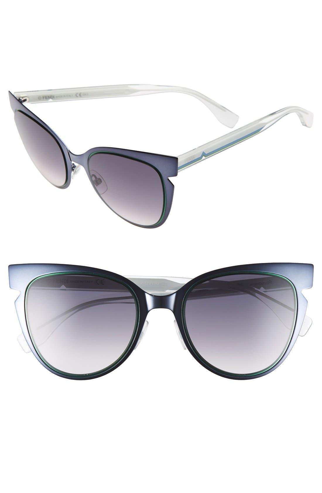 52mm Cat Eye Sunglasses,                             Main thumbnail 2, color,