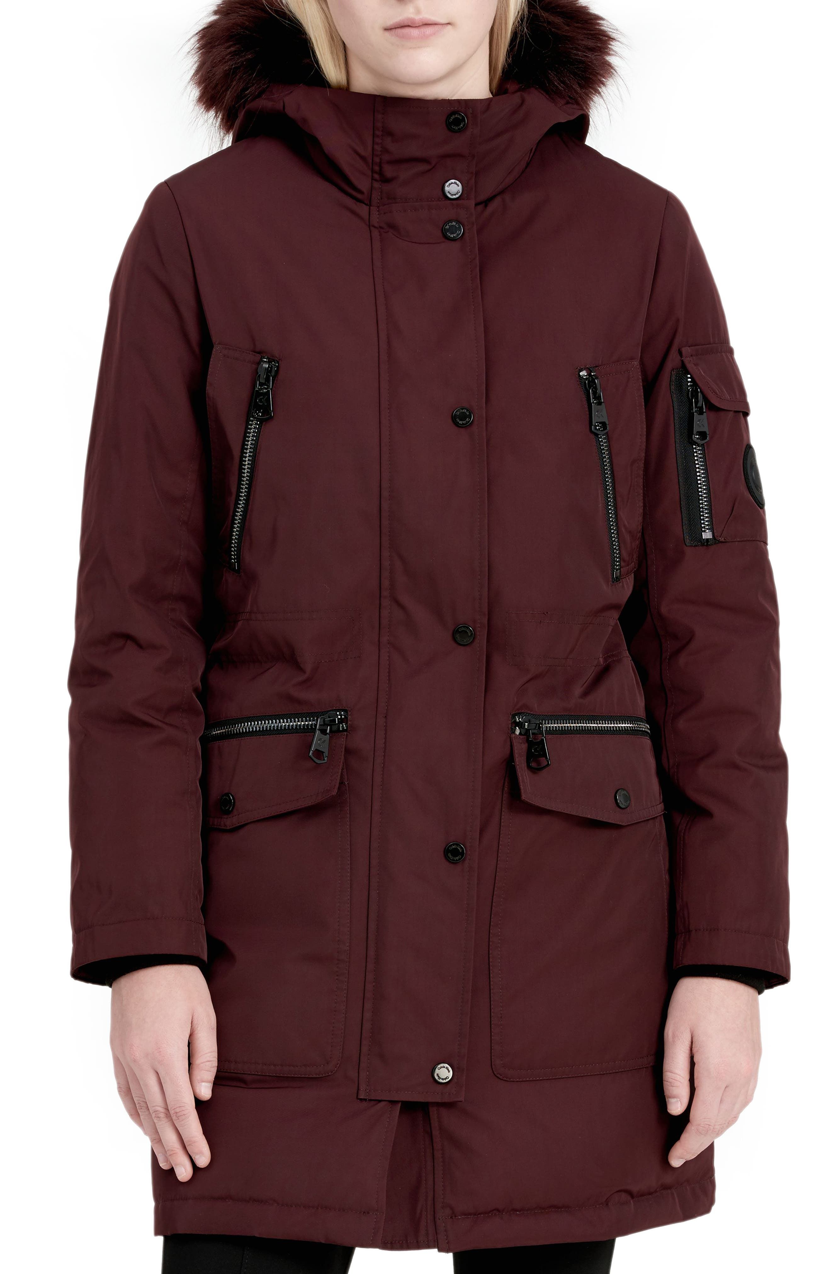 Expedition Hooded Down Parka with Faux Fur Trim,                             Main thumbnail 3, color,