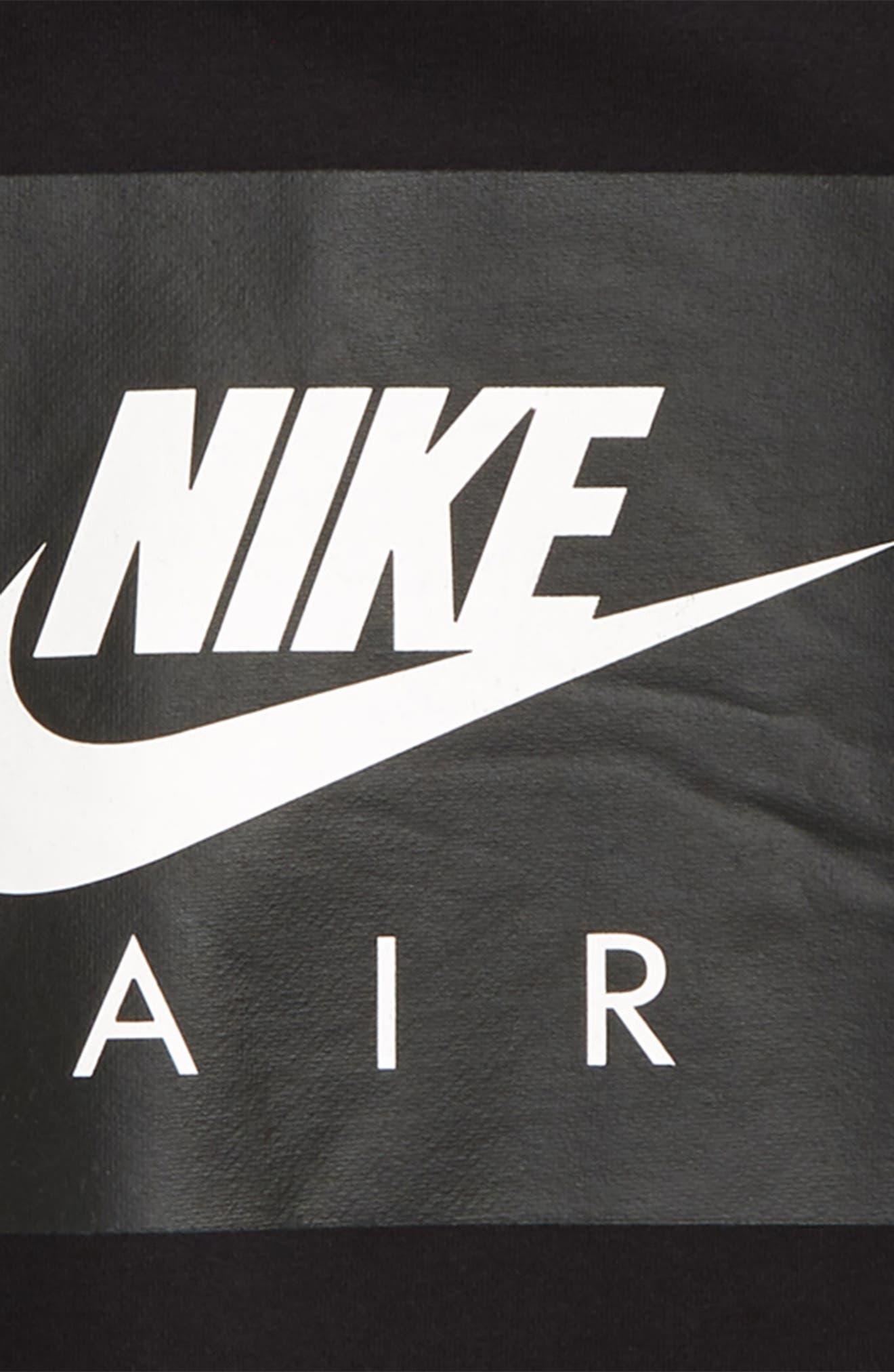 Air Sweatshirt,                             Alternate thumbnail 2, color,                             BLACK/ DARK GREY HEATHER