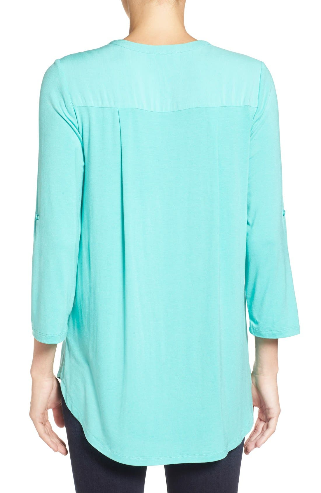 Mixed Media V-Neck Tunic,                             Alternate thumbnail 91, color,