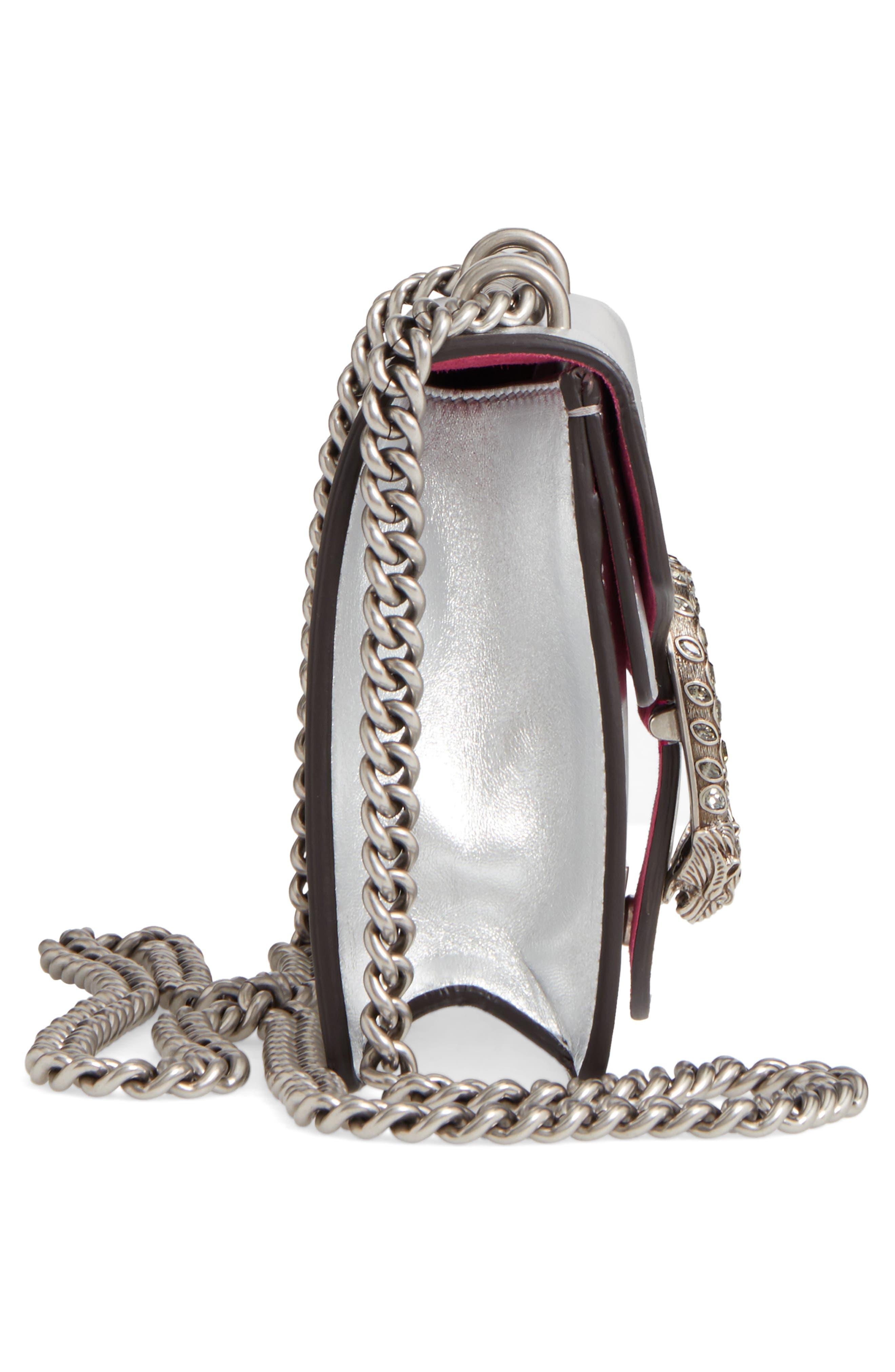 Mini Dionysus Metallic Leather Shoulder Bag,                             Alternate thumbnail 5, color,                             045