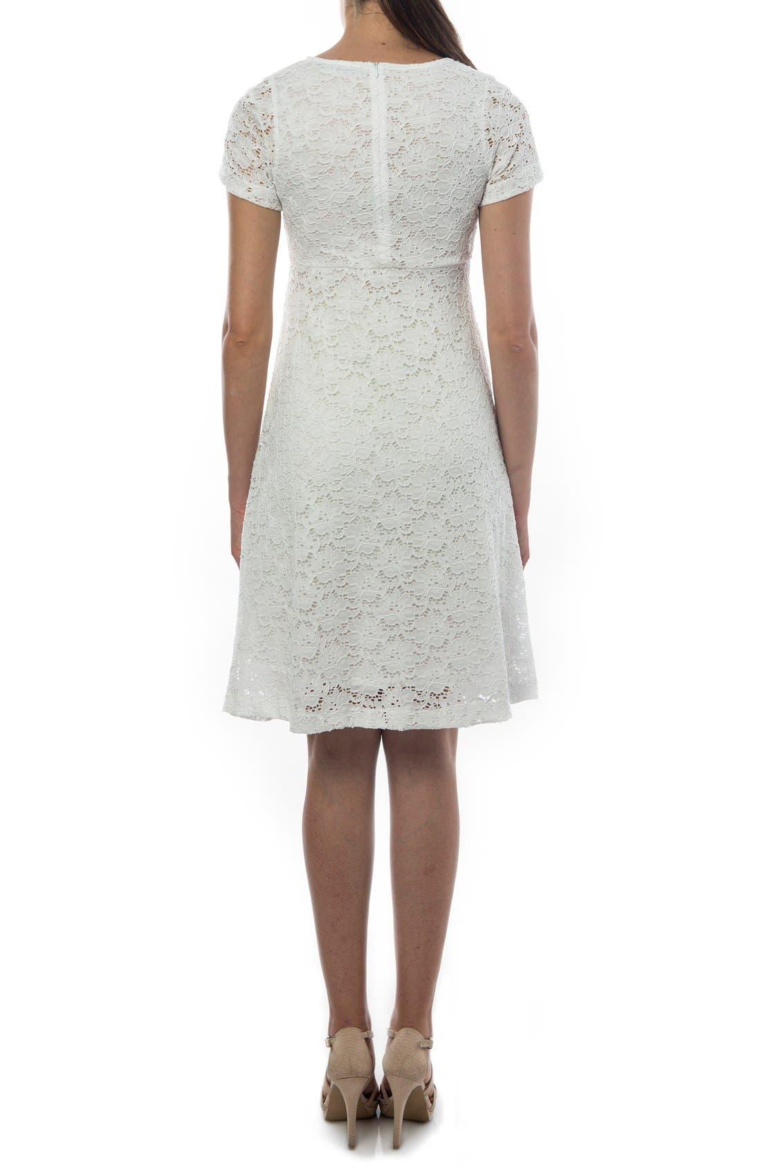 'Rodano' Lace Maternity Dress,                             Alternate thumbnail 2, color,                             101