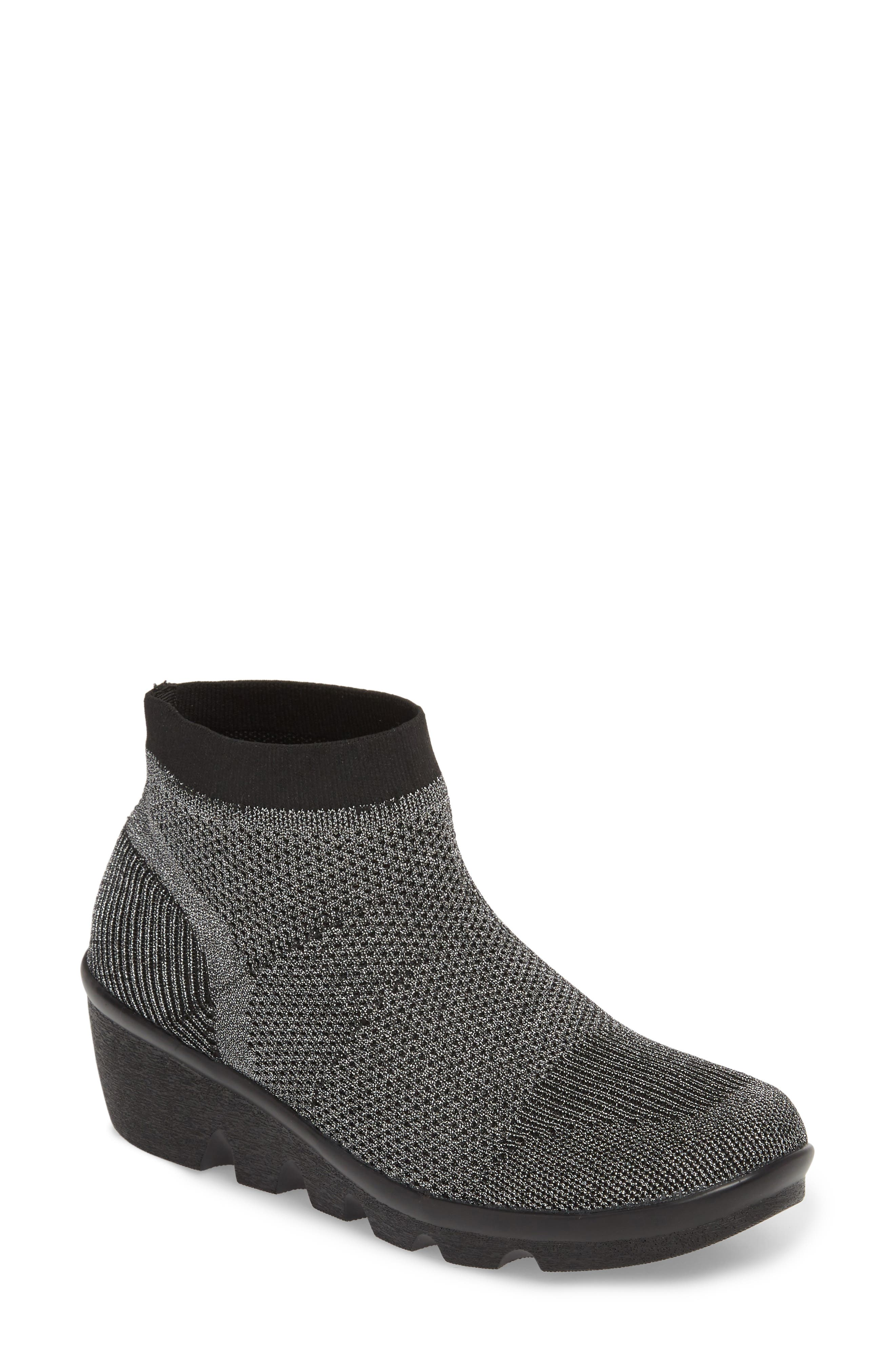 Camryn Knit Bootie,                             Main thumbnail 1, color,                             GUNMETAL FABRIC